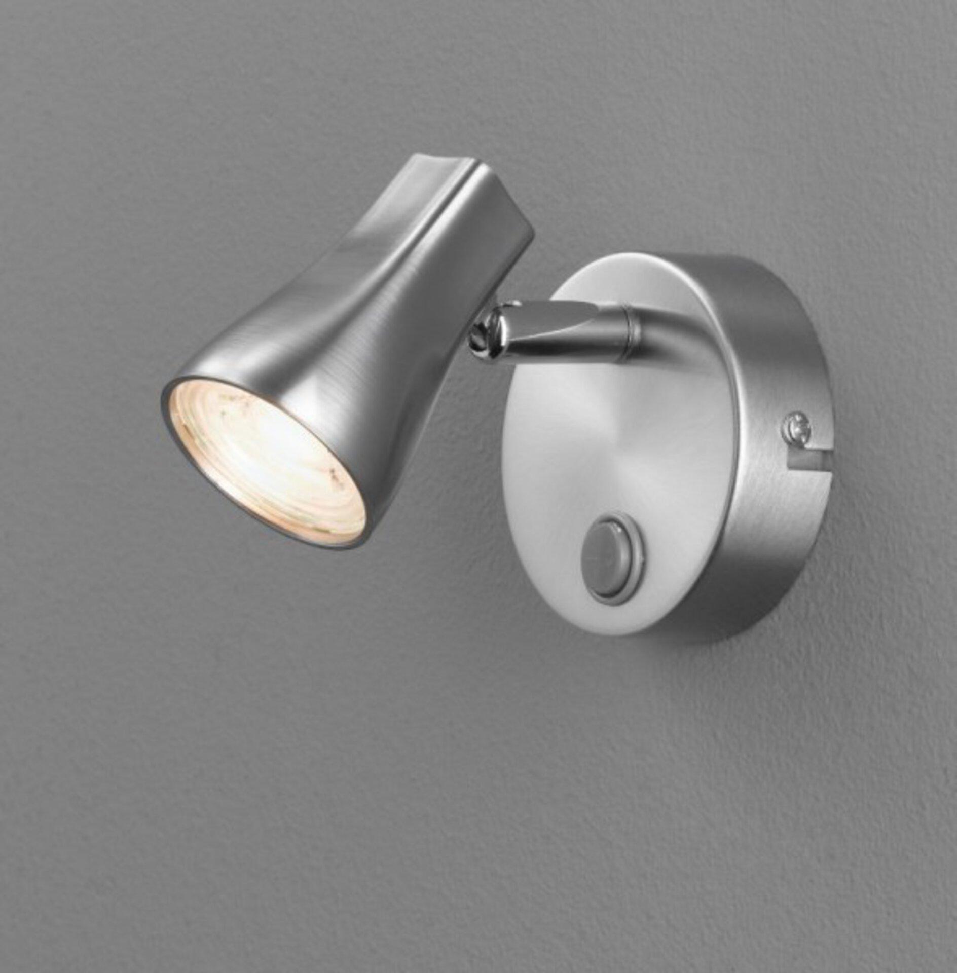 Strahler Trendy Casa Nova Metall silber 8 x 14 x 12 cm