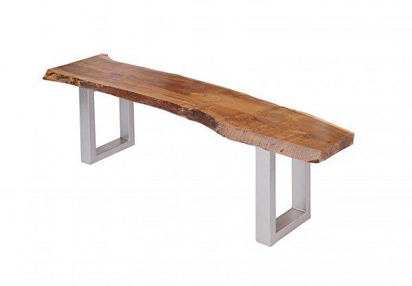 Bankelement Dinett Holz, Metall Akazie massvi