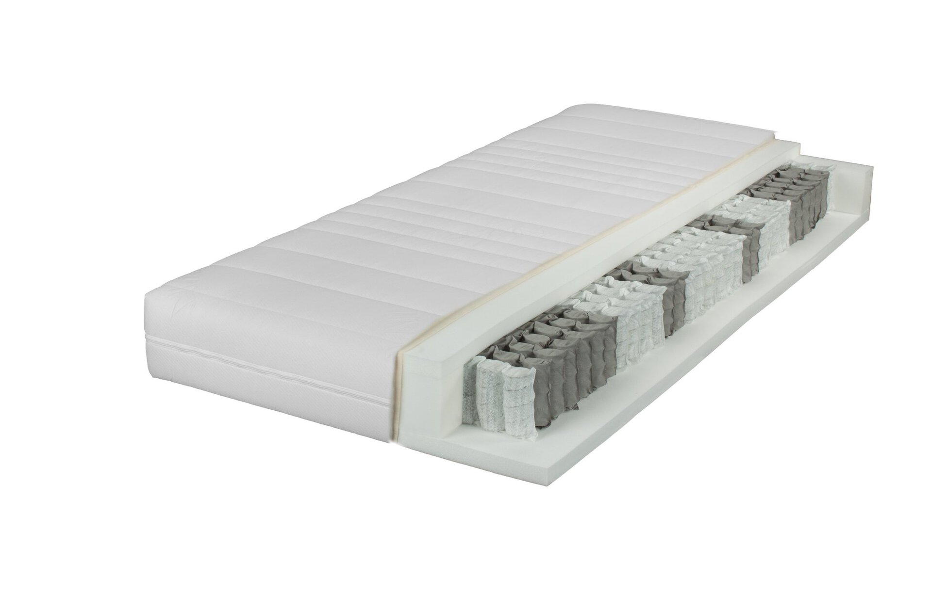Taschenfederkernmatratze SALO LIV'IN LIV'IN Textil weiß 200 x 19 x 90 cm
