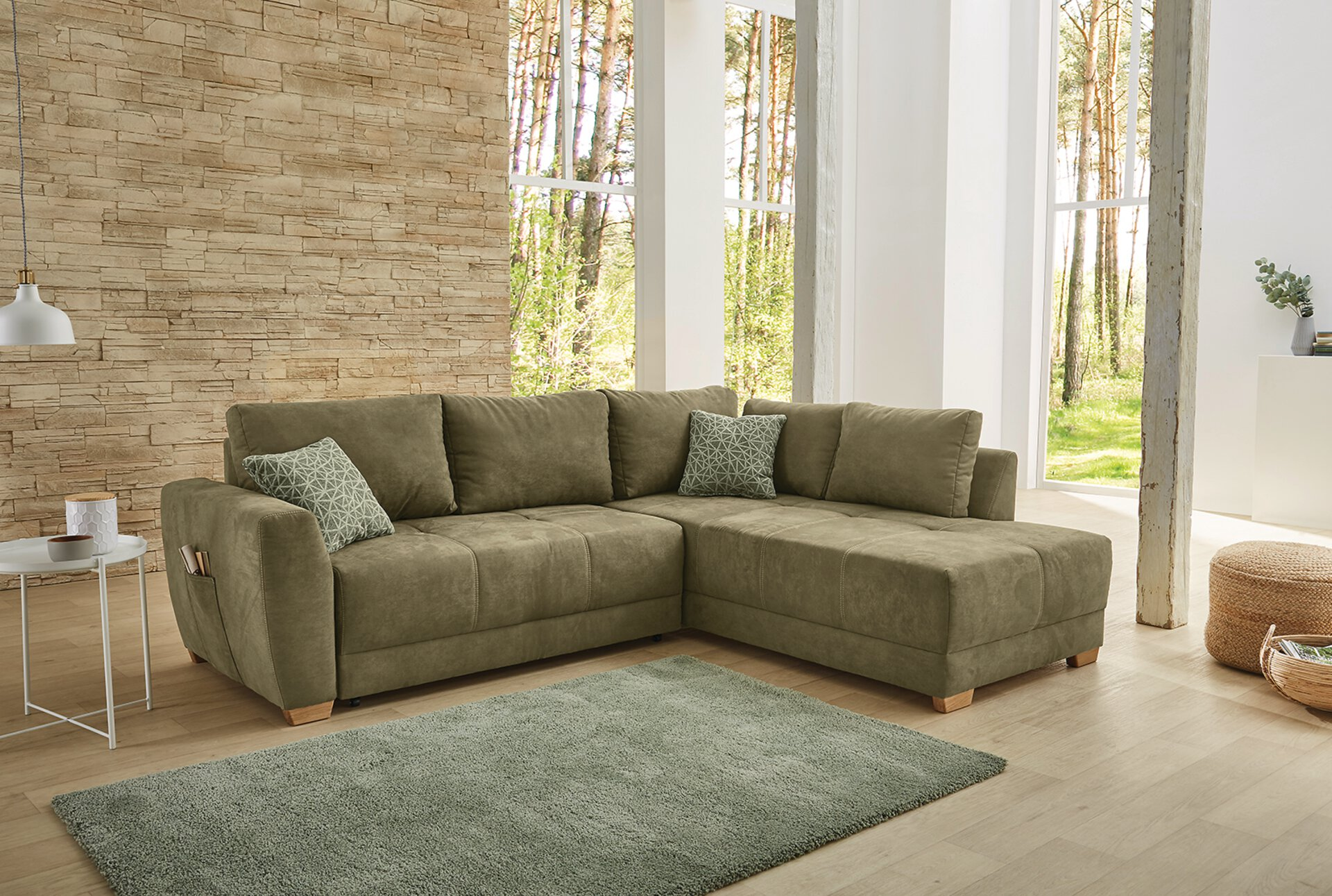 Ecksofa LUZERN-SE CELECT Textil 208 x 87 x 254 cm