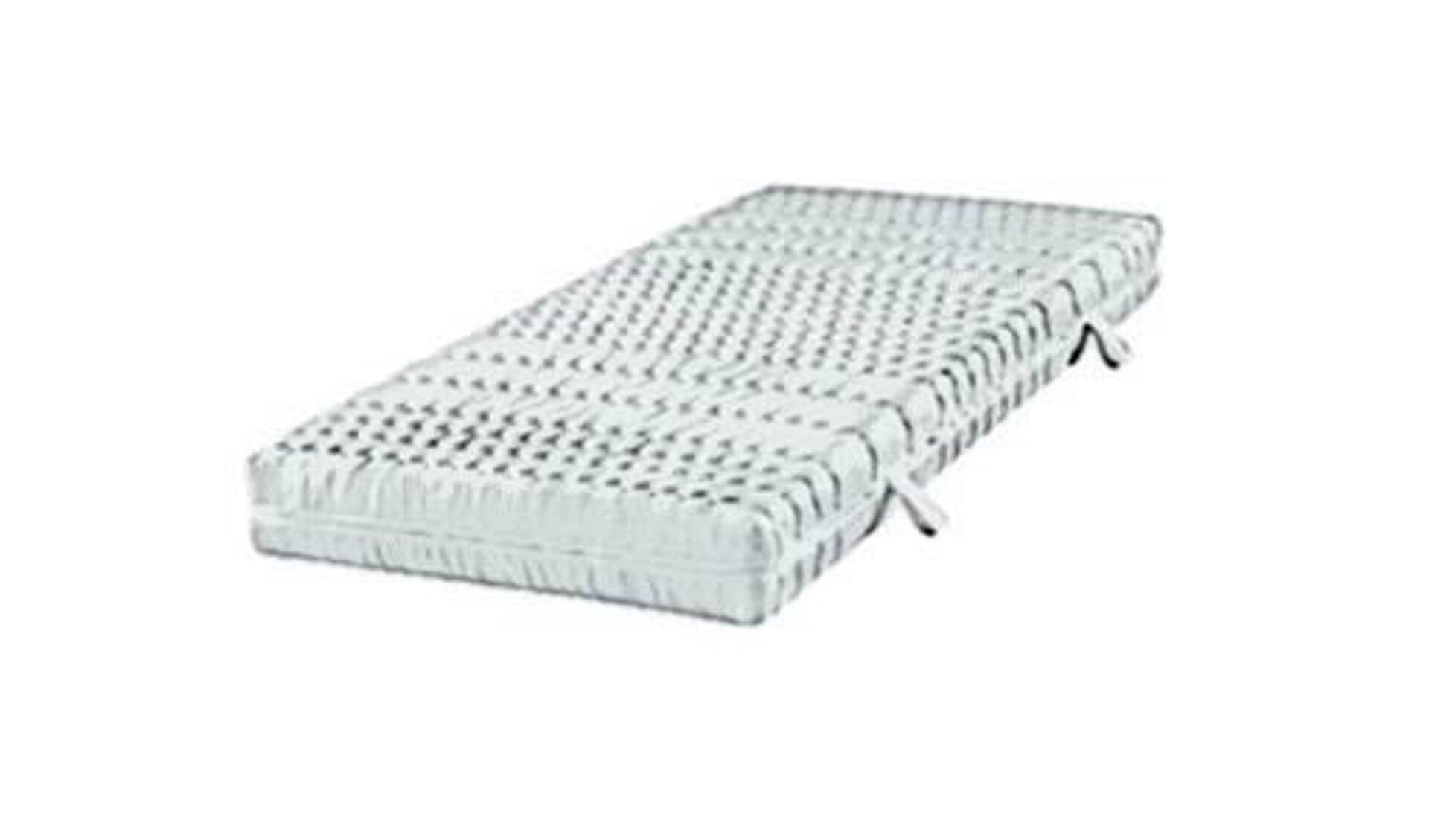 Icon für Matratze ist eine weiße Matratze mit den typischen Abnähungen für die Einteilung der Liegezonen.