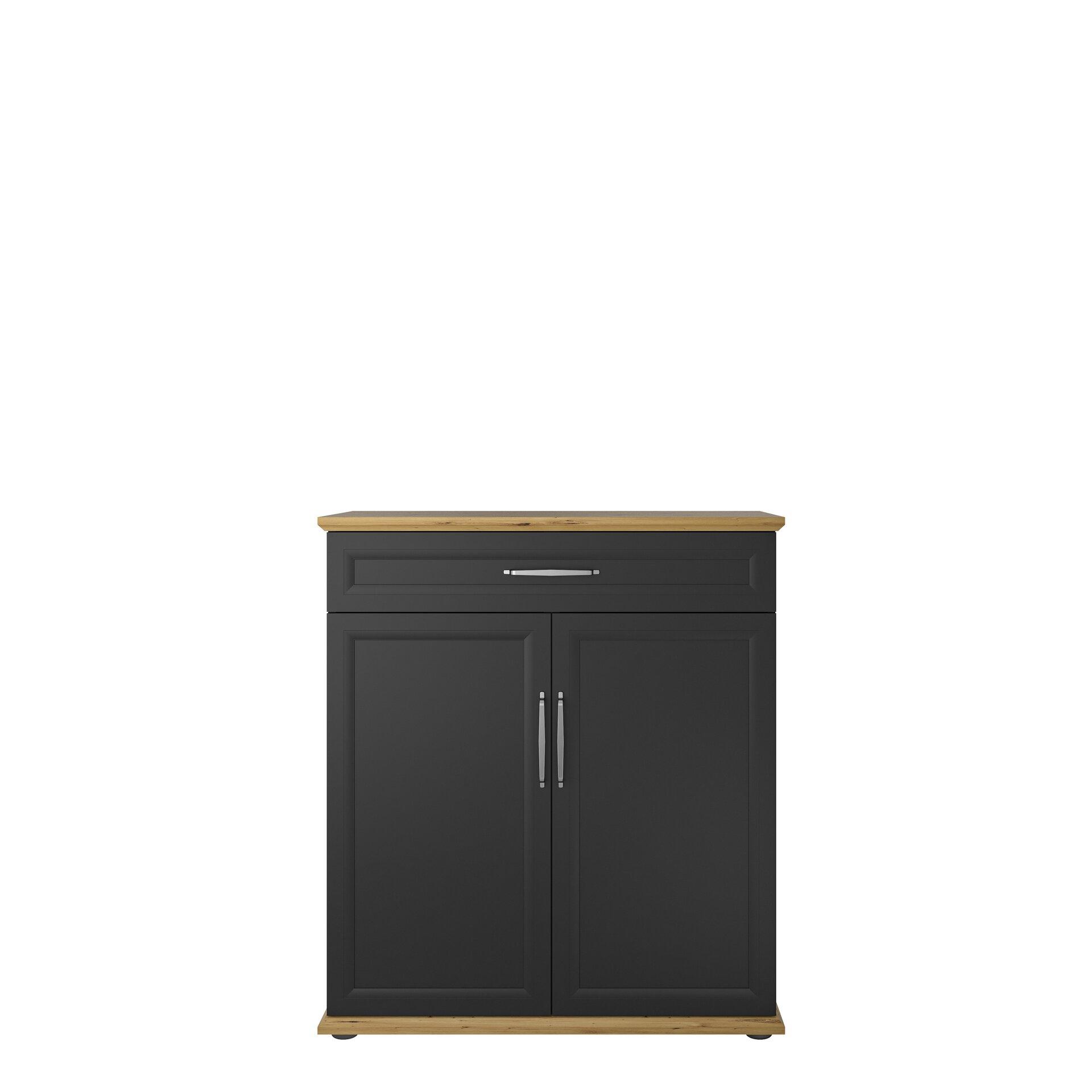 Aktenschrank KOBUS Vito Holzwerkstoff grau 70 x 77 x 150 cm