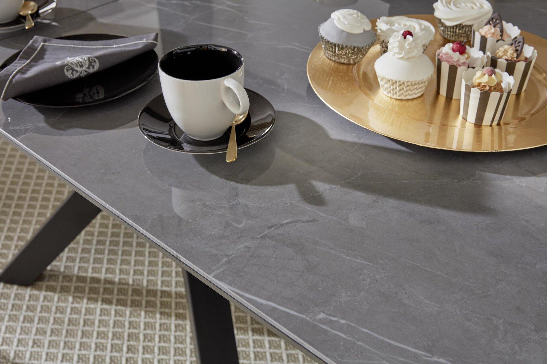 Esstisch GIADA MONDO Metall 90 x 180 cm