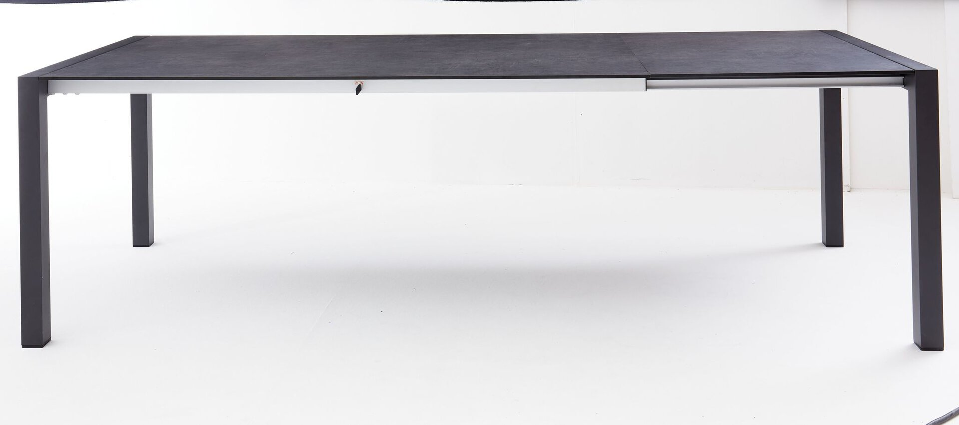 Ausziehtisch ALINA II Outdoor Metall grau 100 x 74 x 180 cm