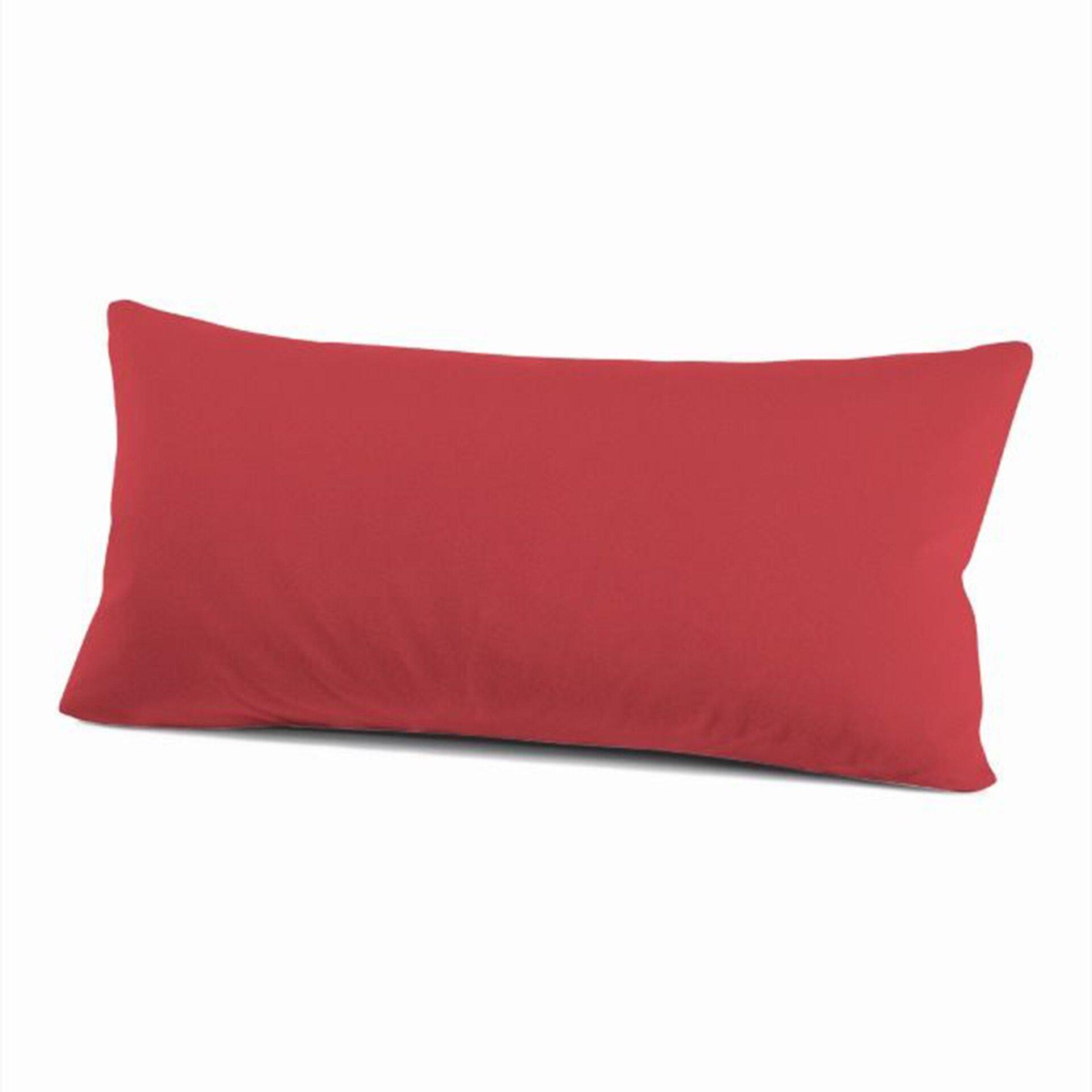 Kissenhülle Schlafgut Textil rot 40 x 80 cm