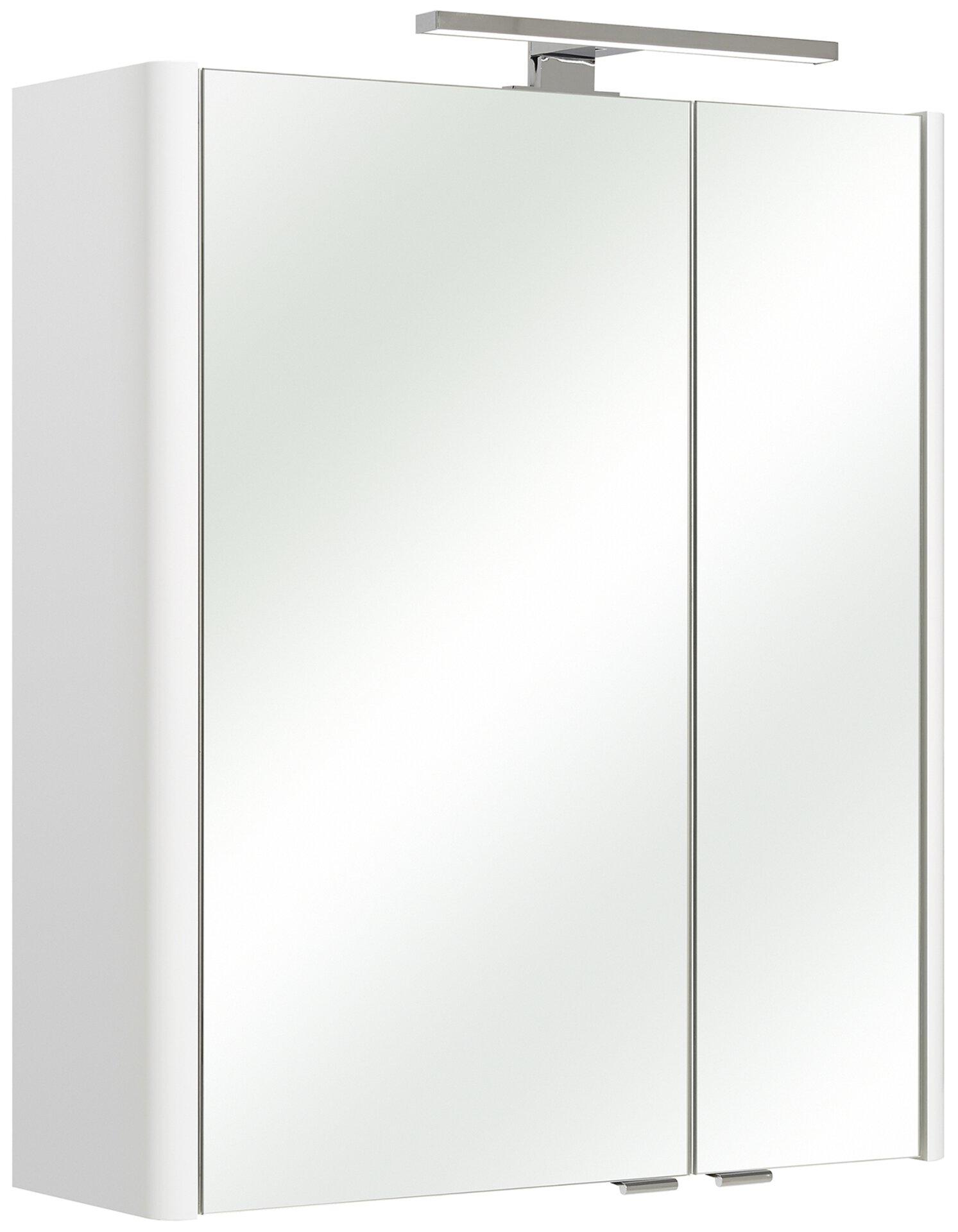 Spiegelschrank Bardi PELIPAL Glas weiß