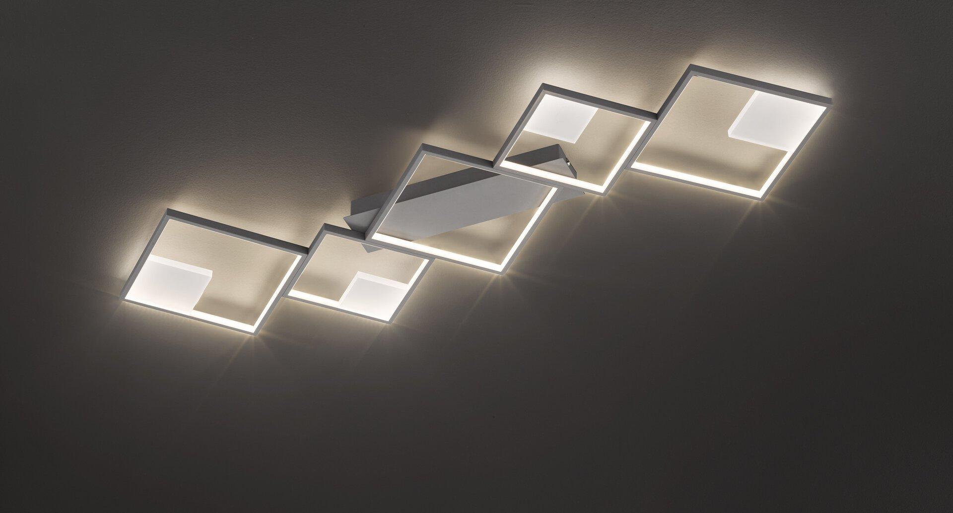 Deckenleuchte Jade Wofi Leuchten Metall grau 47 x 6 x 130 cm