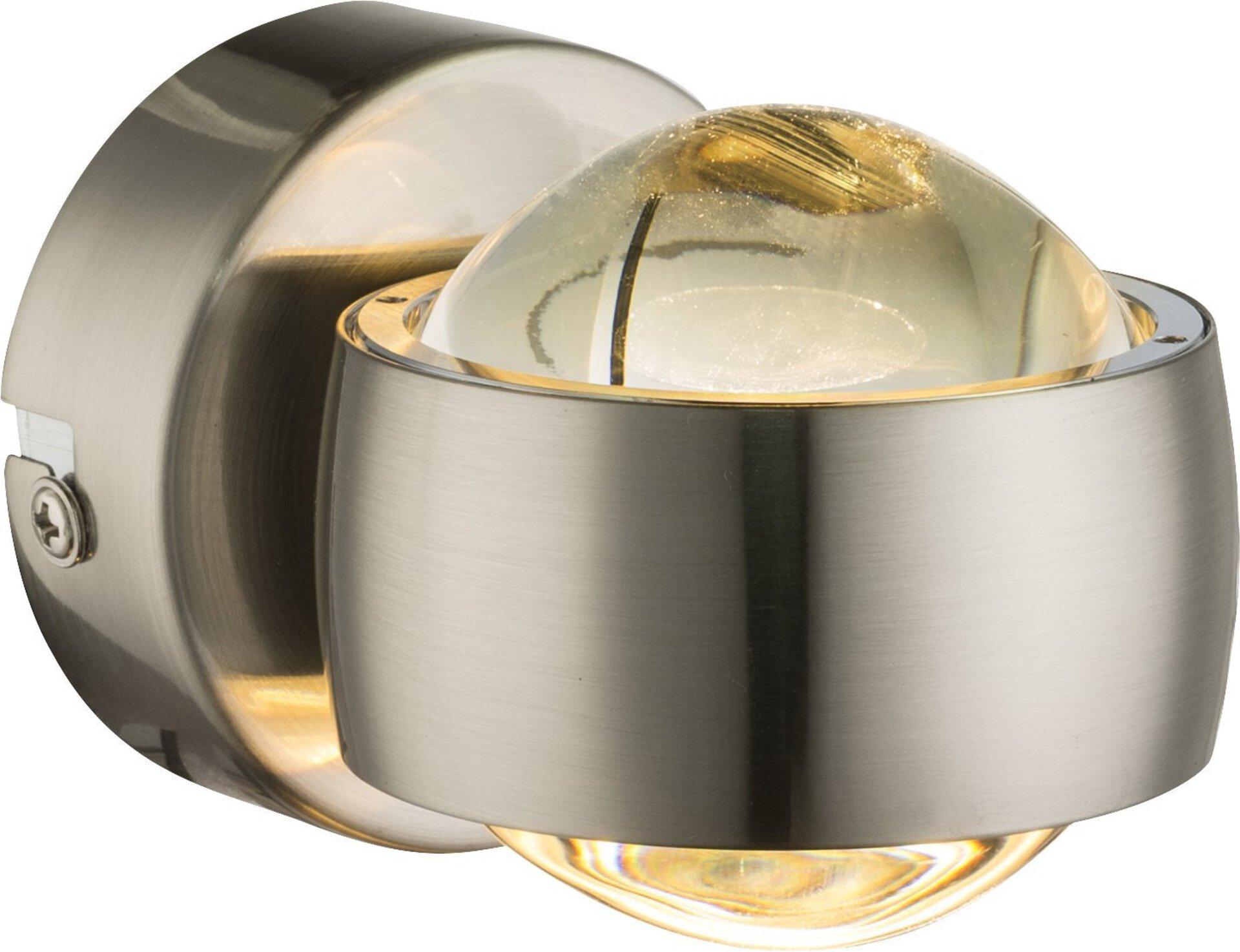 Wandleuchte RANDI Globo Metall silber 8 x 10 x
