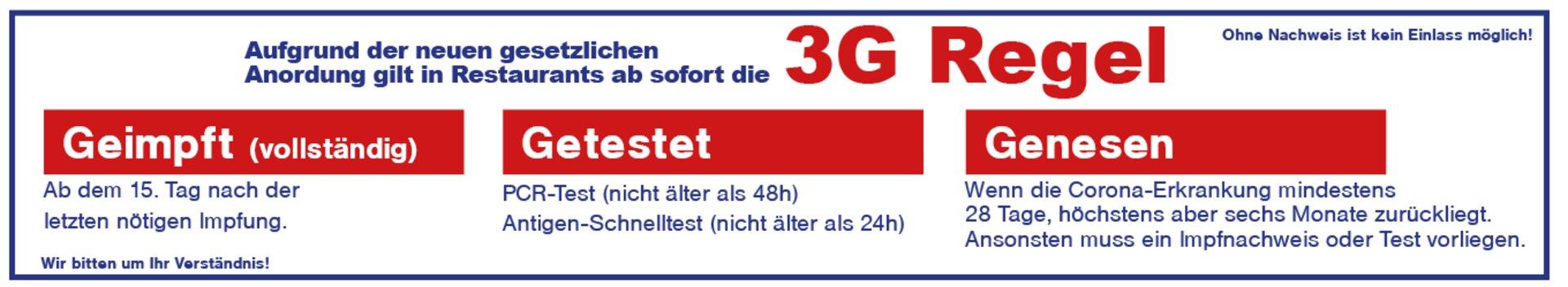 3G-Regel bezüglich Corona