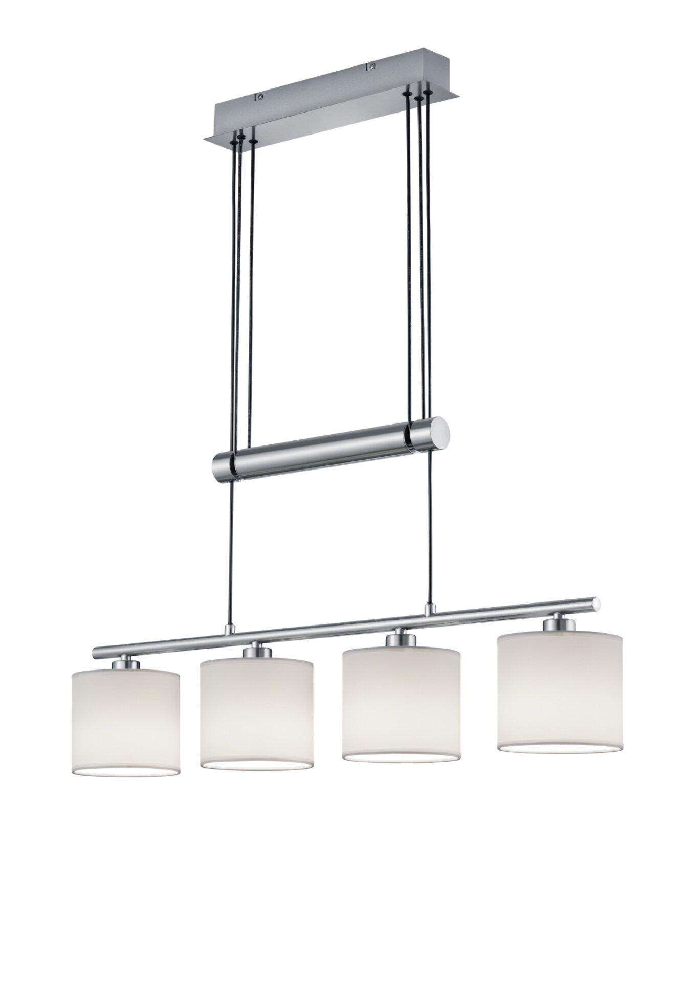 Hängeleuchte Garda Trio Leuchten Metall silber 14 x 150 x 80 cm