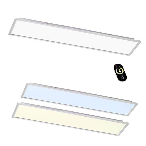 Deckenleuchte Wofi Leuchten Kunststoff silber ca. 30 cm x 6 cm x 120 cm