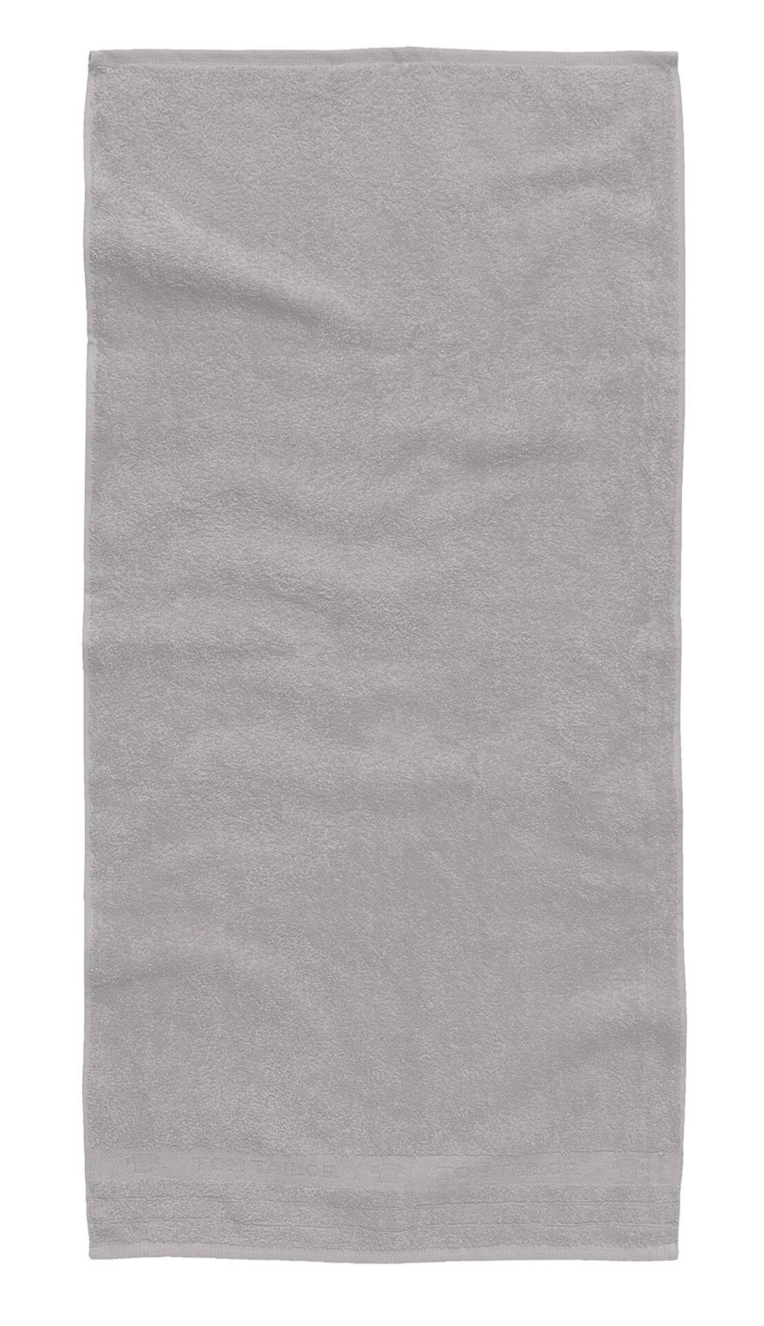 Duschtuch Uni Towel Tom Tailor Textil silber 70 x 140 cm