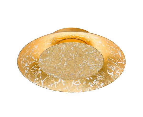 Deckenleuchte Fischer-Honsel  Metall gold ca. 22 cm x 5 cm x 22 cm