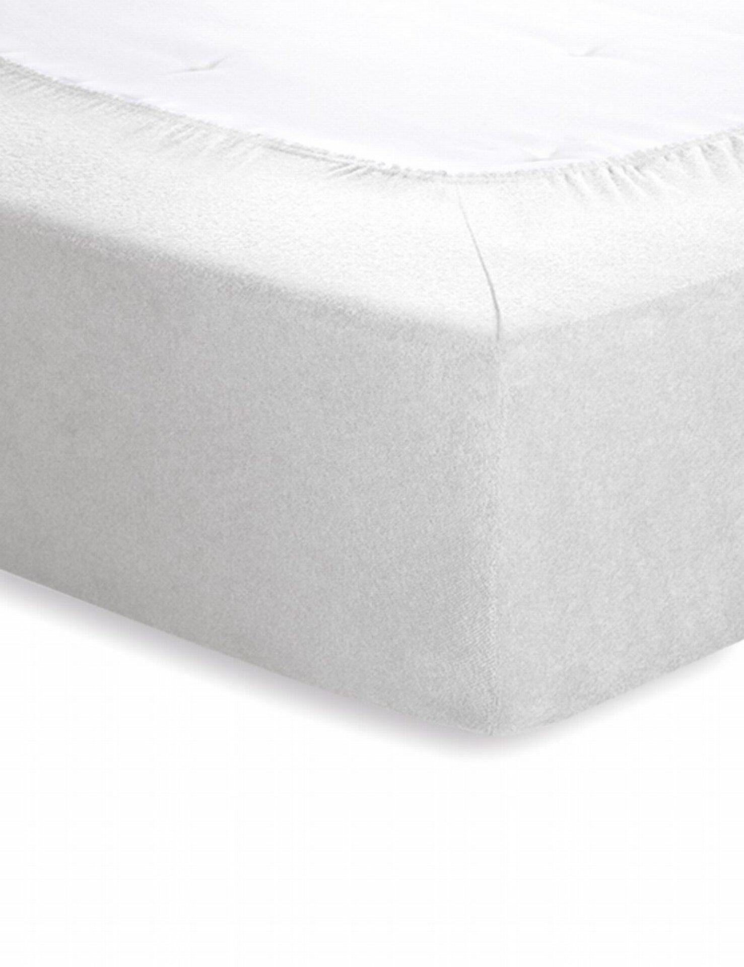 Frotte-Spannbetttuch Schlafgut Textil weiß 100 x 200 cm