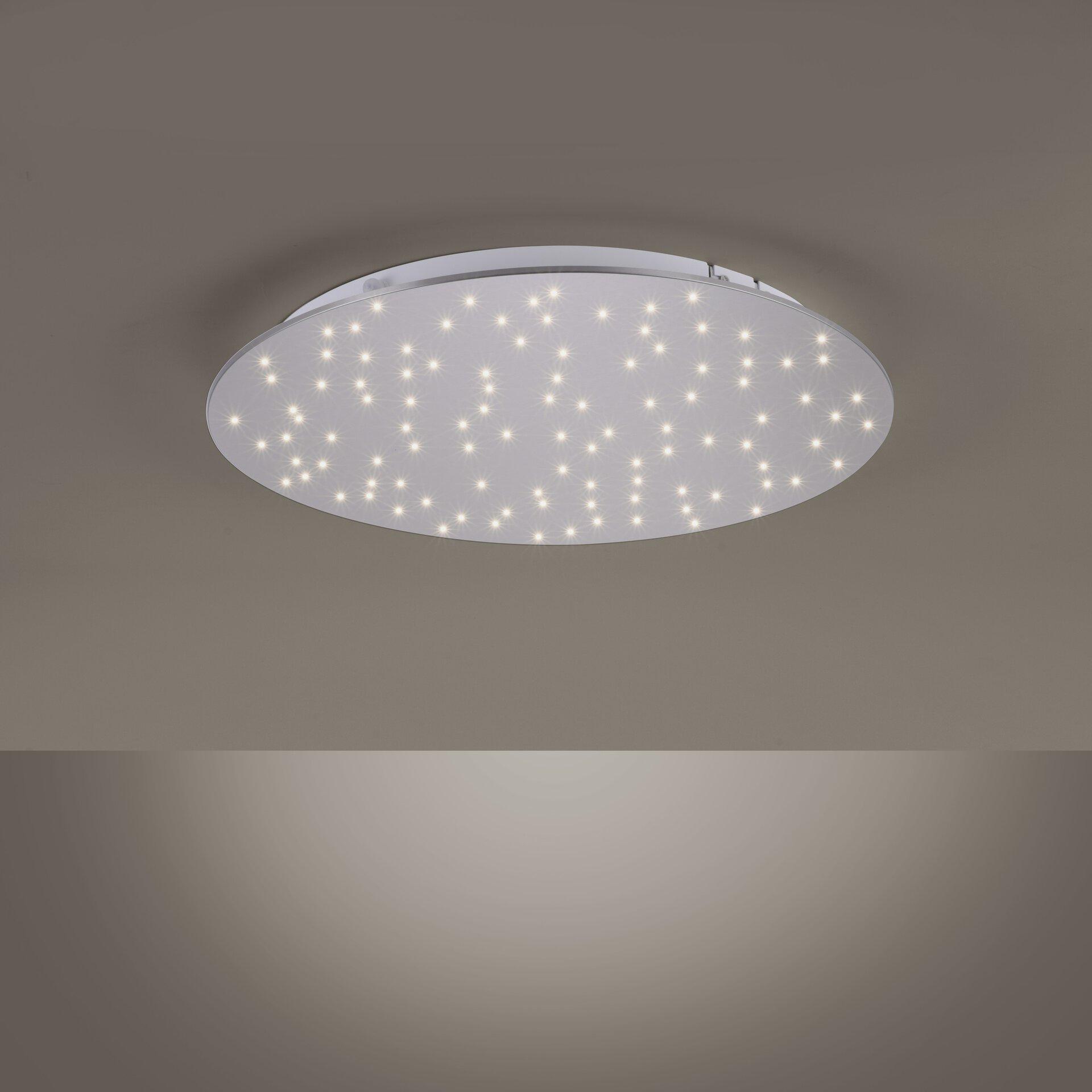 Deckenleuchte SPARKLE Leuchtendirekt Metall silber 48 x 4 x 48 cm