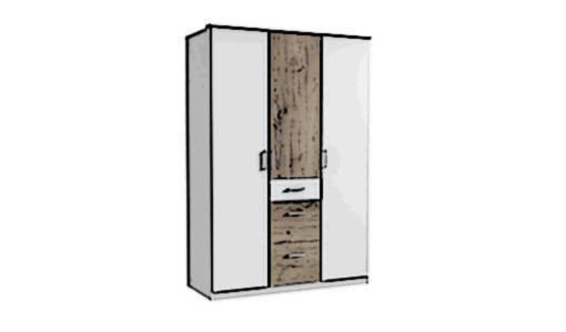 Drehtürenschrank mit Naturholz und weißem Furnier als Front dient als Icon für Drehtürenschränke.