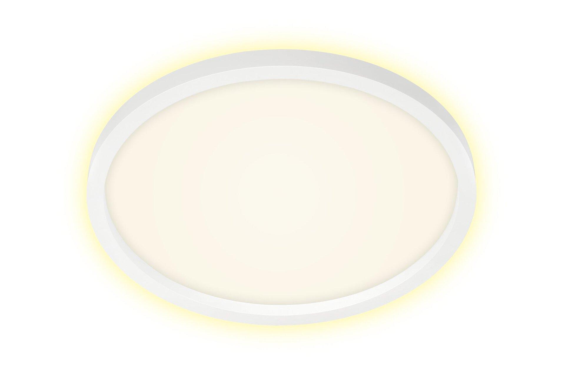 Deckenleuchte CADRE Briloner Metall weiß 43 x 3 x 43 cm