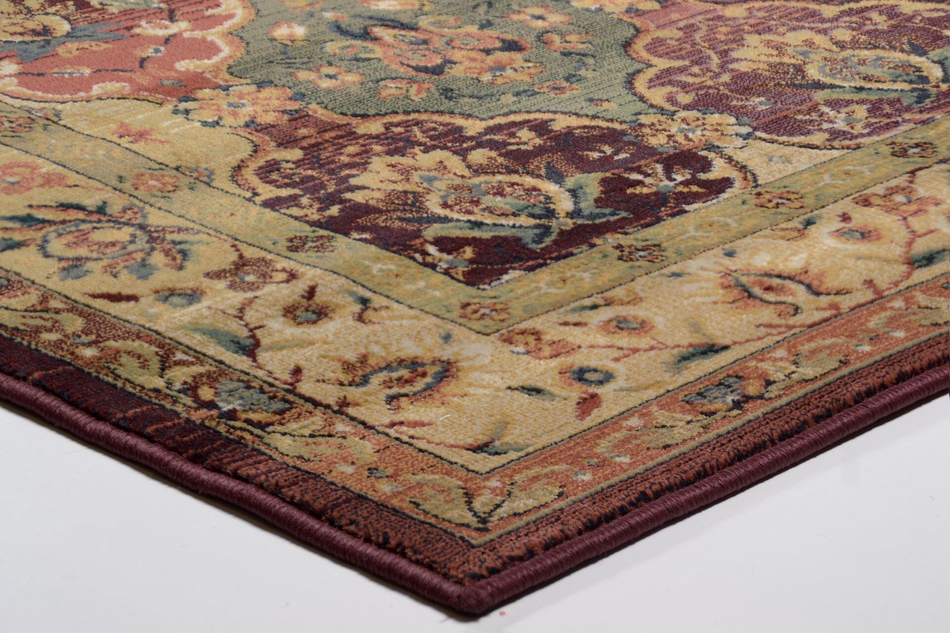 Maschinenwebteppich Gabiro Theko Textil rot 200 x 285 cm