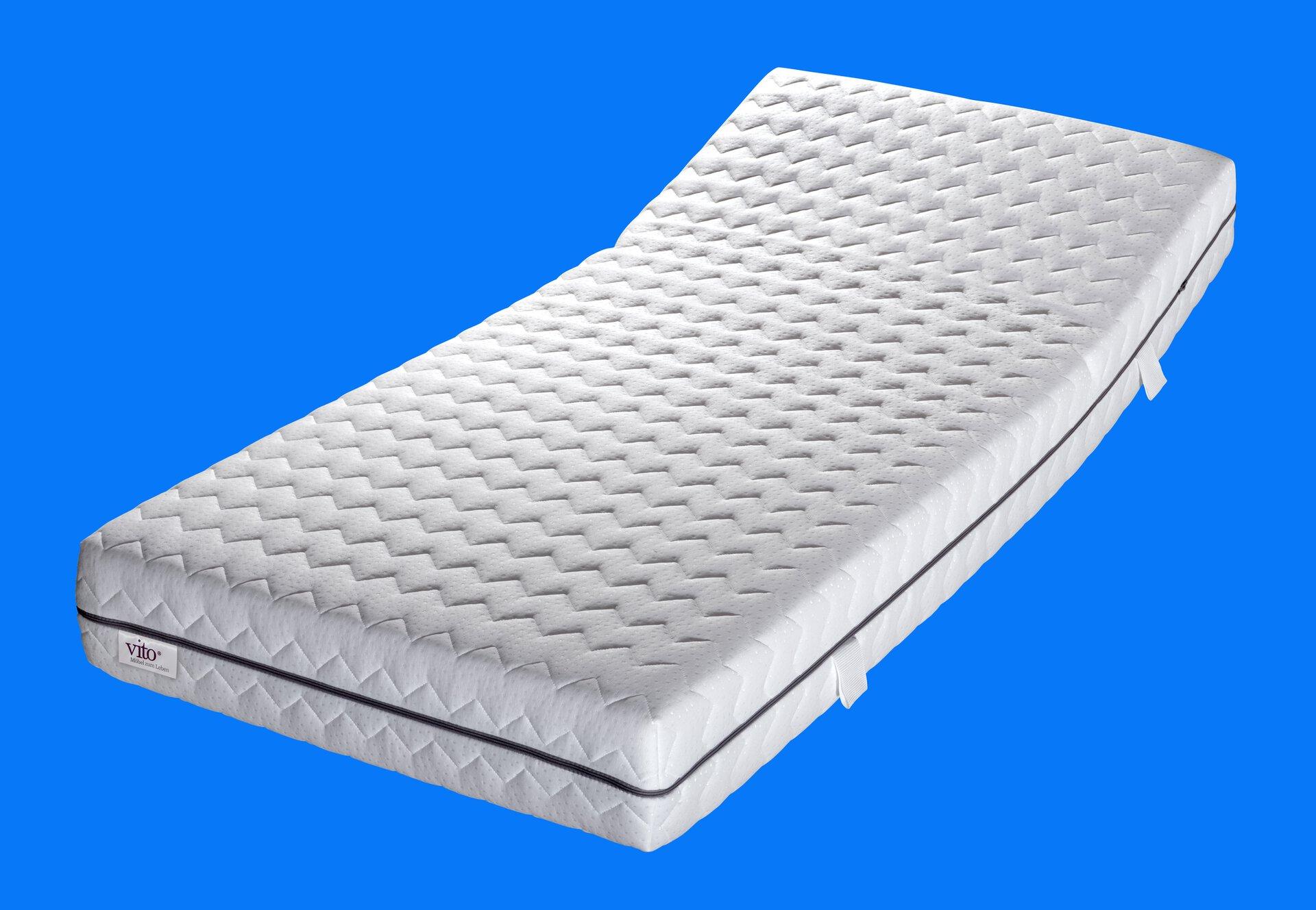 Komfortschaummatratze Sensio Active Vito Textil weiß 140 x 24 x 200 cm