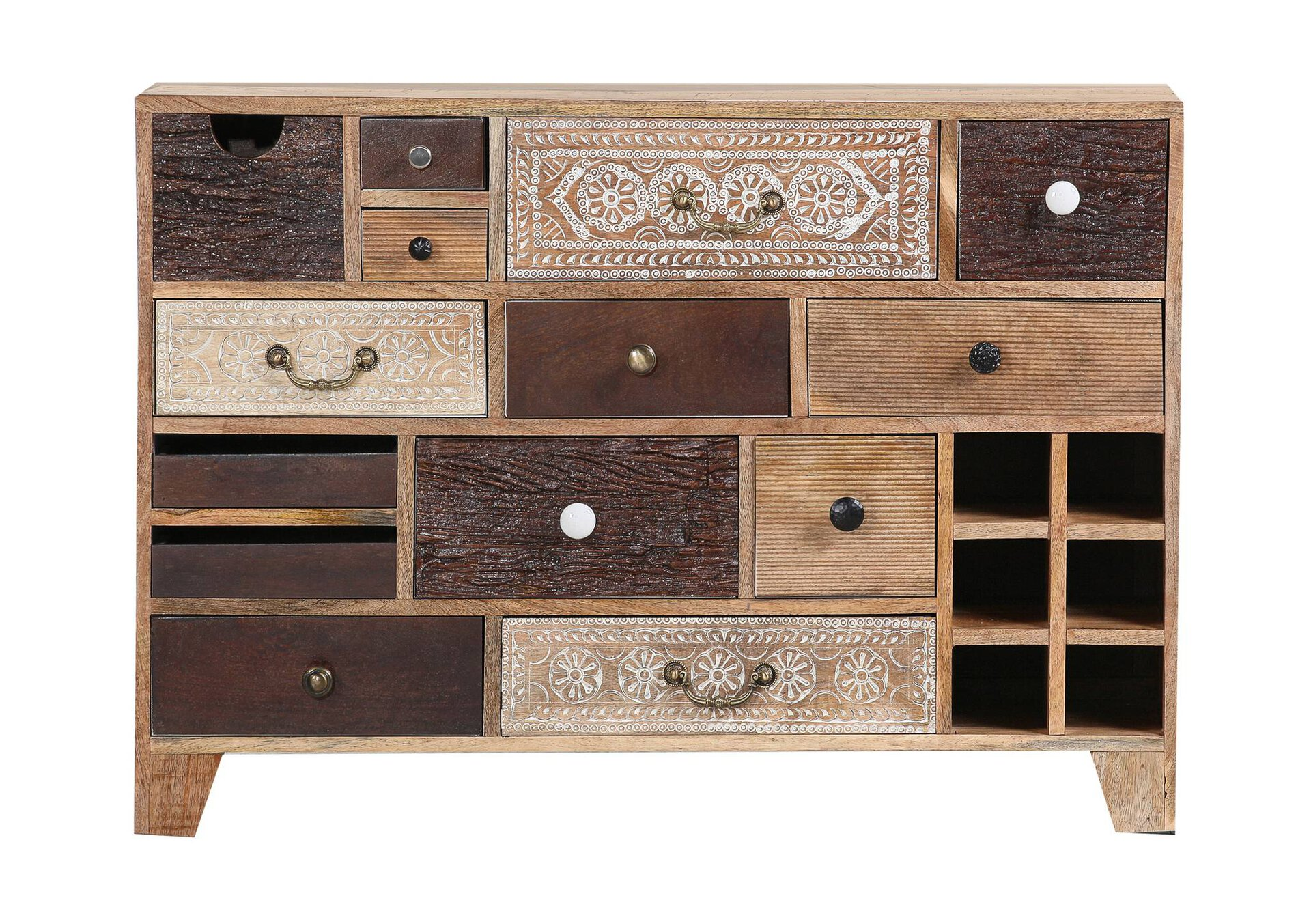 Sideboard Puno Gutmann Factory Holz mehrfarbig 39 x 80 x 114 cm