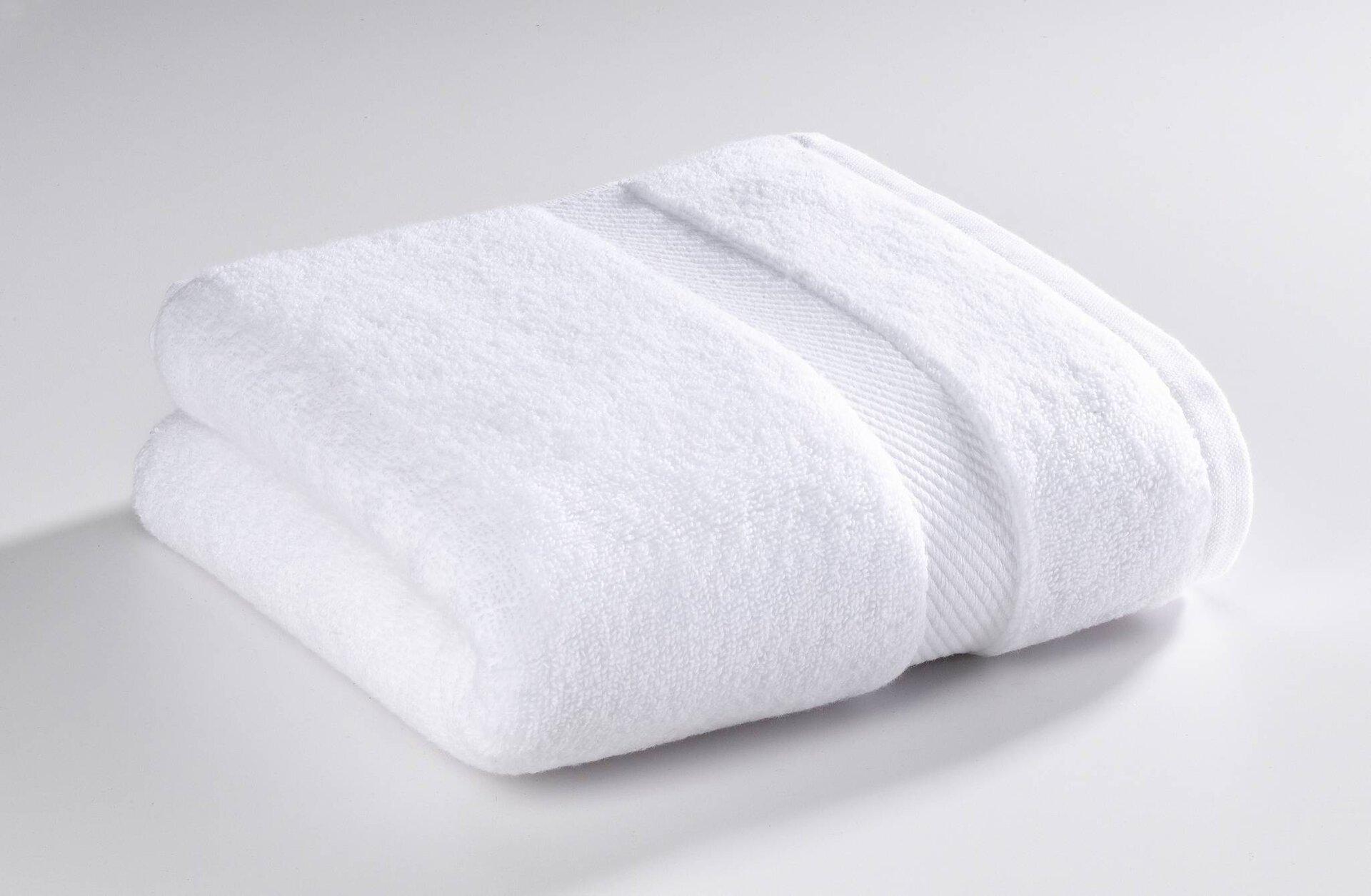 Handtuch Micro Baumwolle Casa Nova Textil weiß 50 x 100 cm