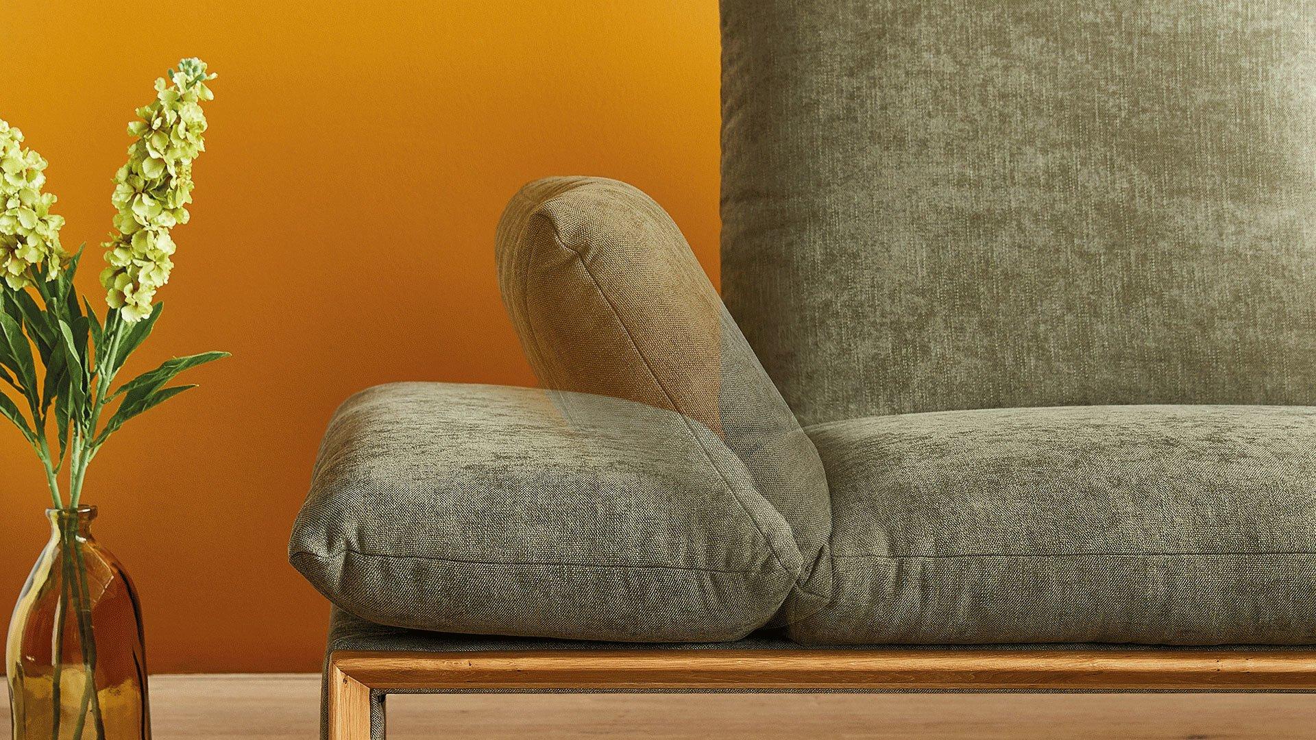Ecksofa HARRIET Koinor Textil grün 92 x 73 x 222 cm