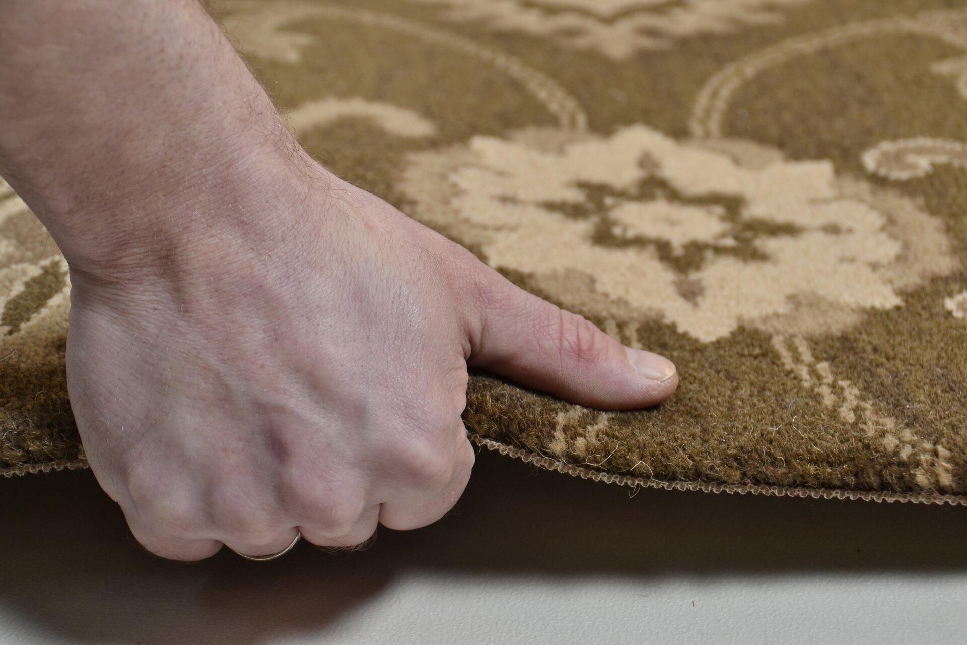 Maschinenwebteppich Timeless Theko Textil braun 1 x 1 cm