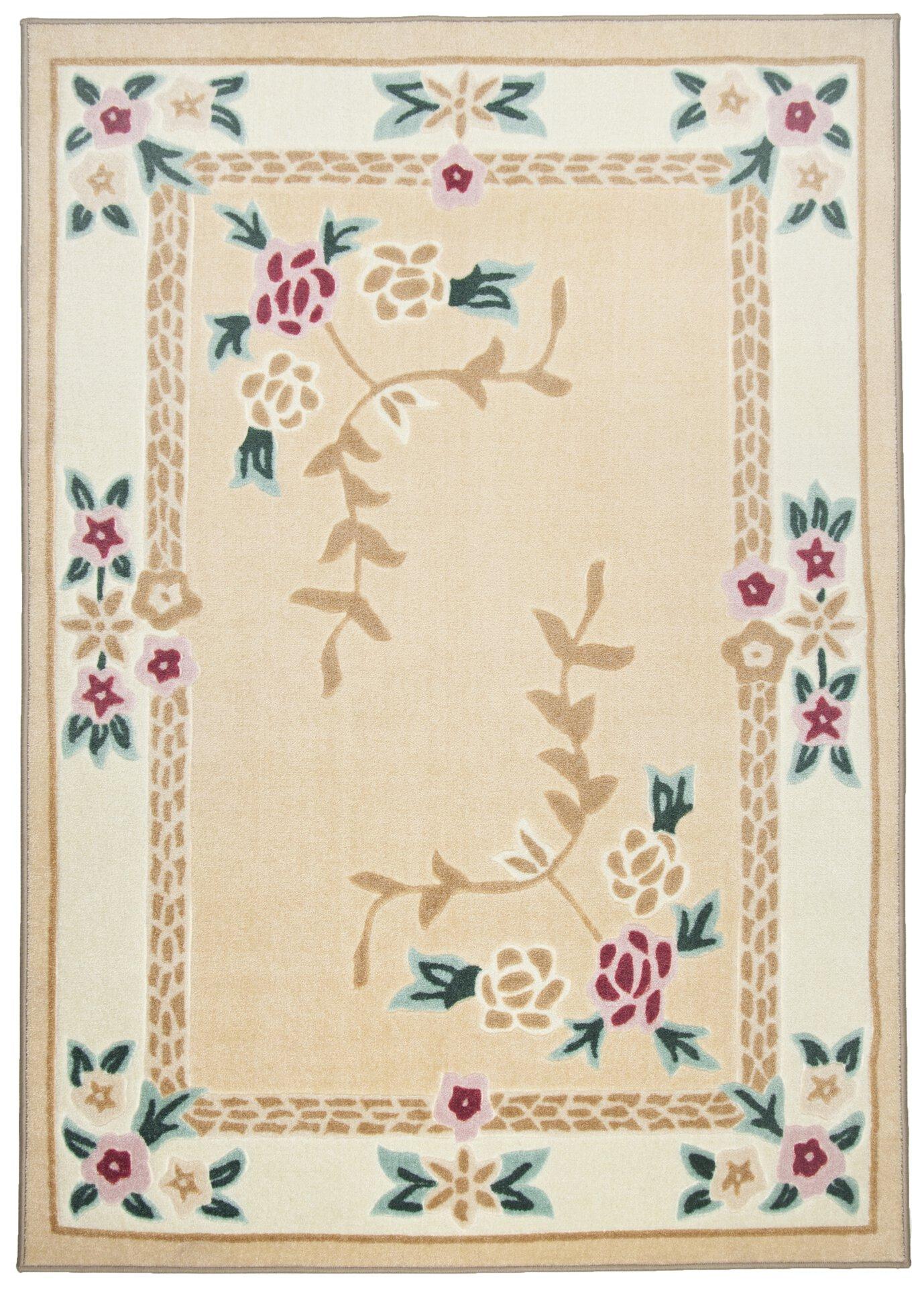 Maschinenwebteppich Versailles Theko Textil braun 1 x 1 cm