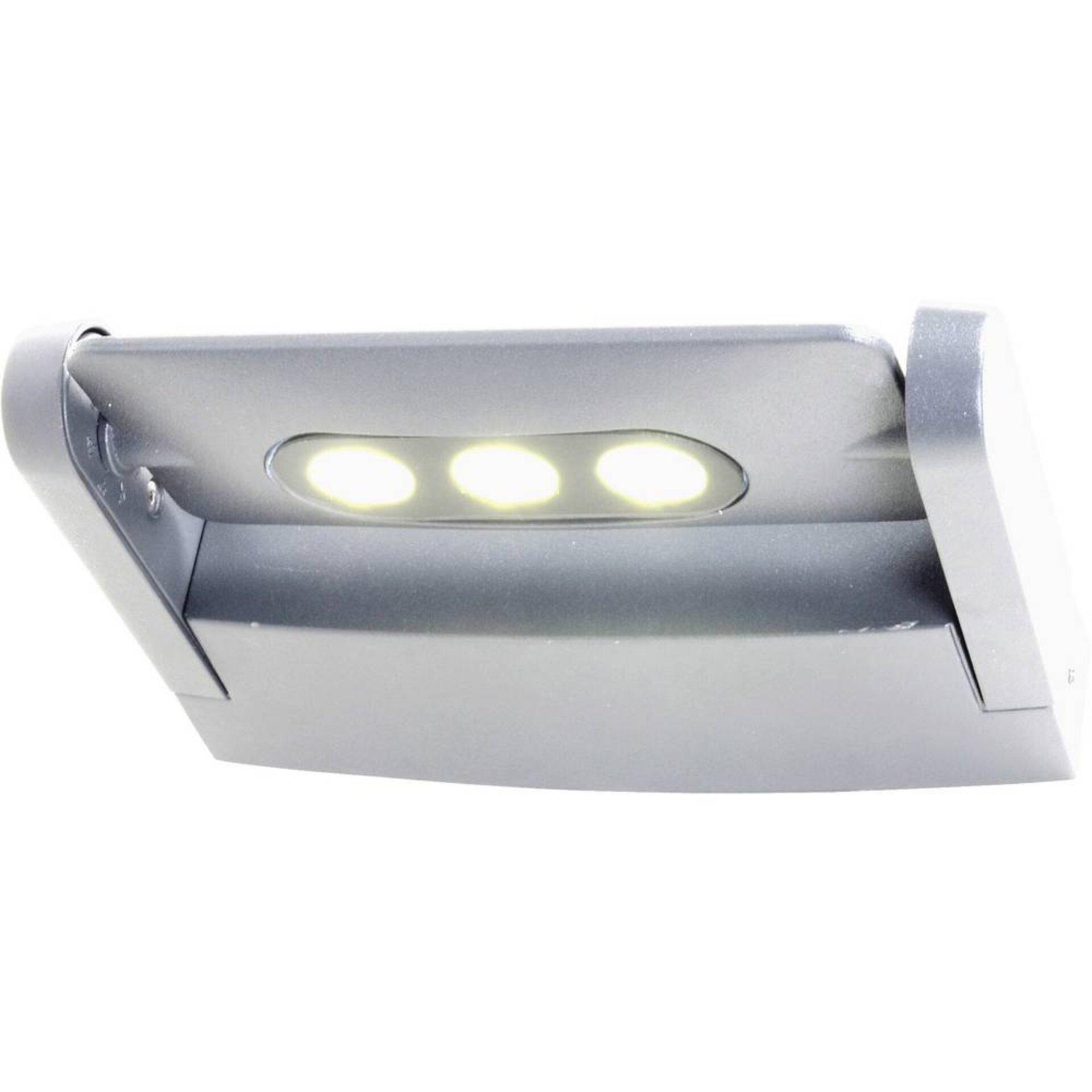 Wand-Aussenleuchte Mini LEDSpot Eco-Light Metall grau 21 x 5 x 16 cm