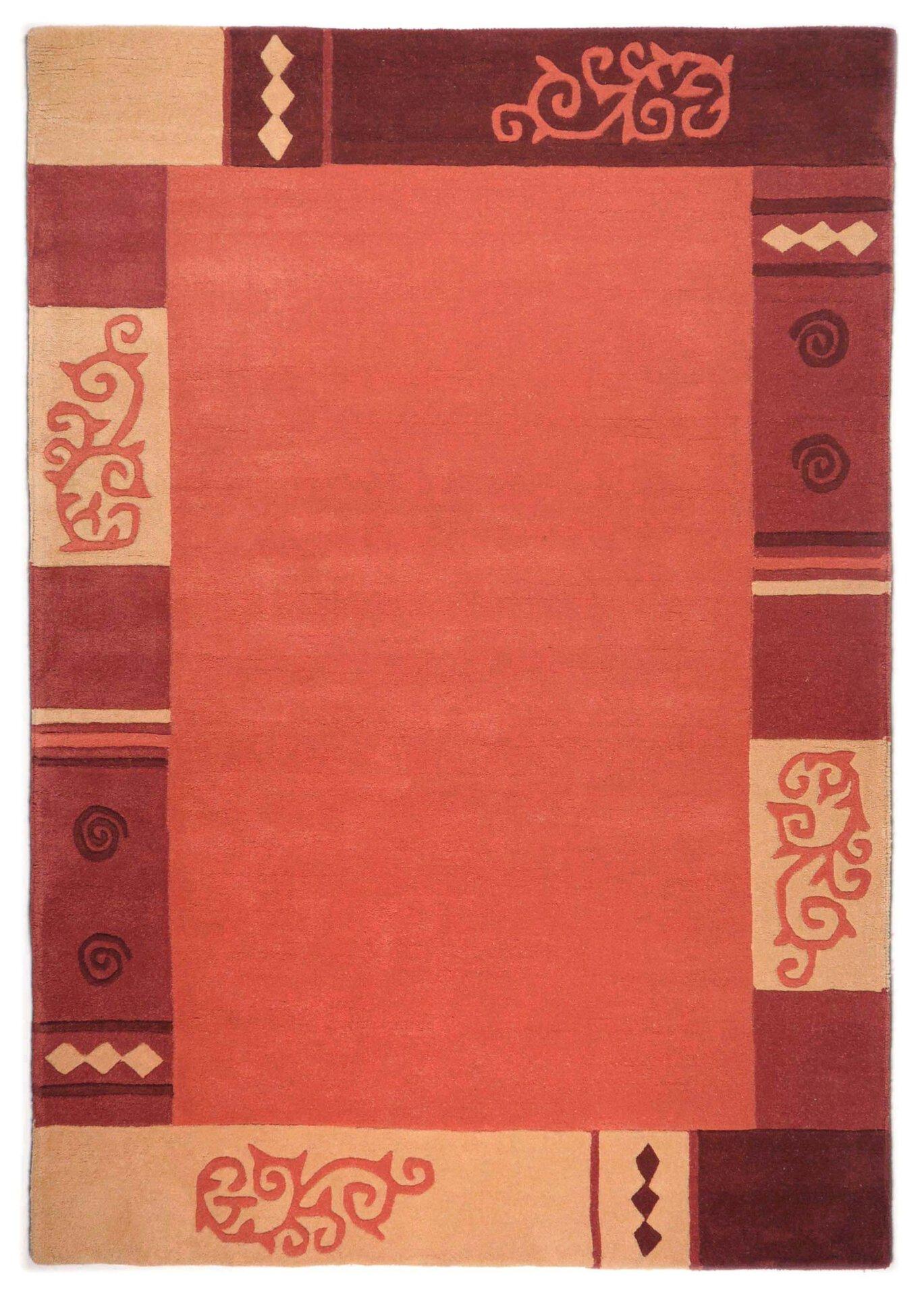 Handtuftteppich Ambadi Theko Textil orange 60 x 90 cm