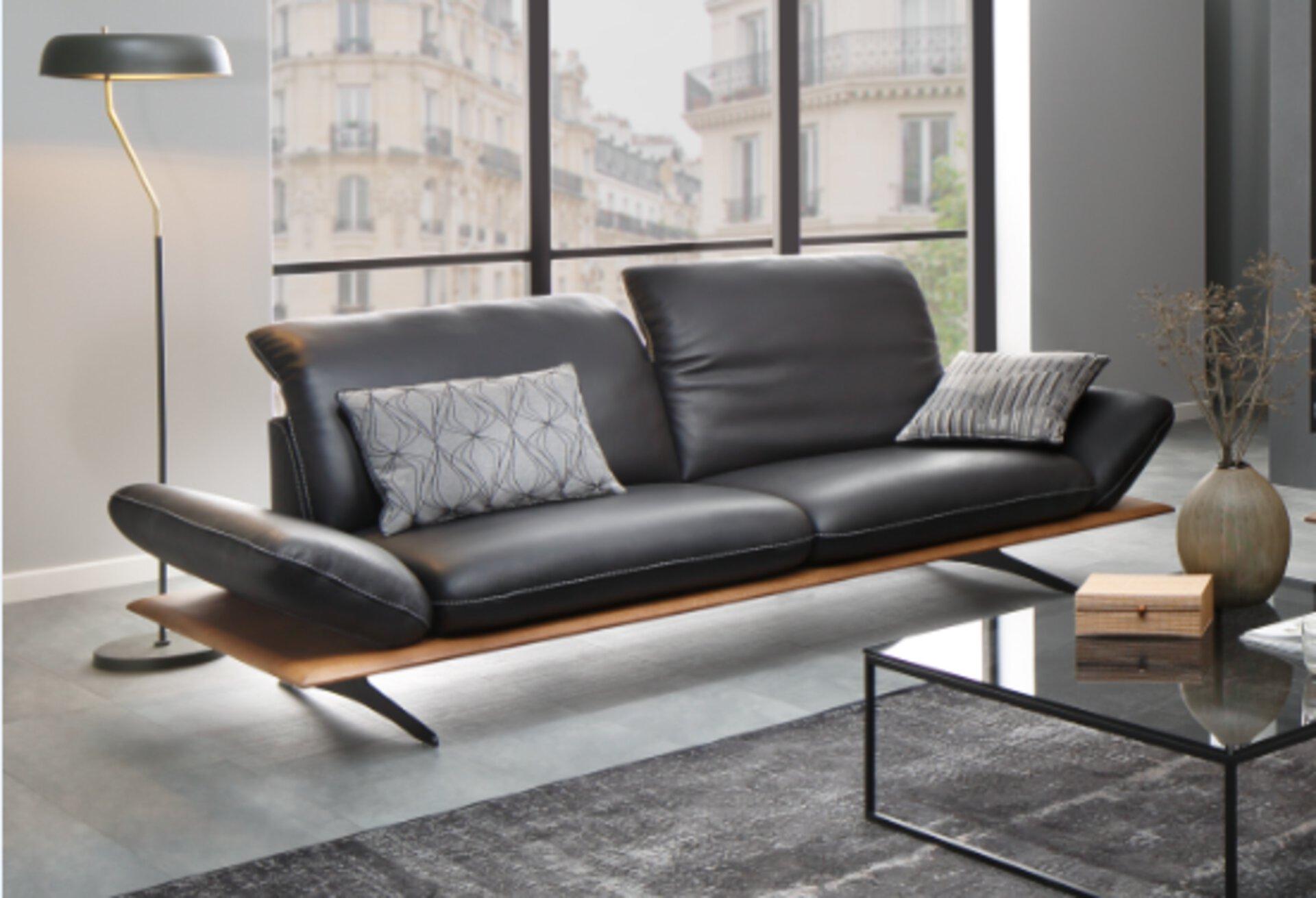 Sofa 2,5-Sitzer 27620 W.Schillig Leder 110 x 82 x 240 cm