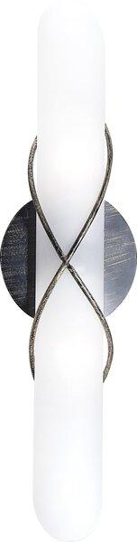 Wandleuchte Globo Metall schwarz, gold patiniert ca. 45 cm x 9 cm x 14 cm