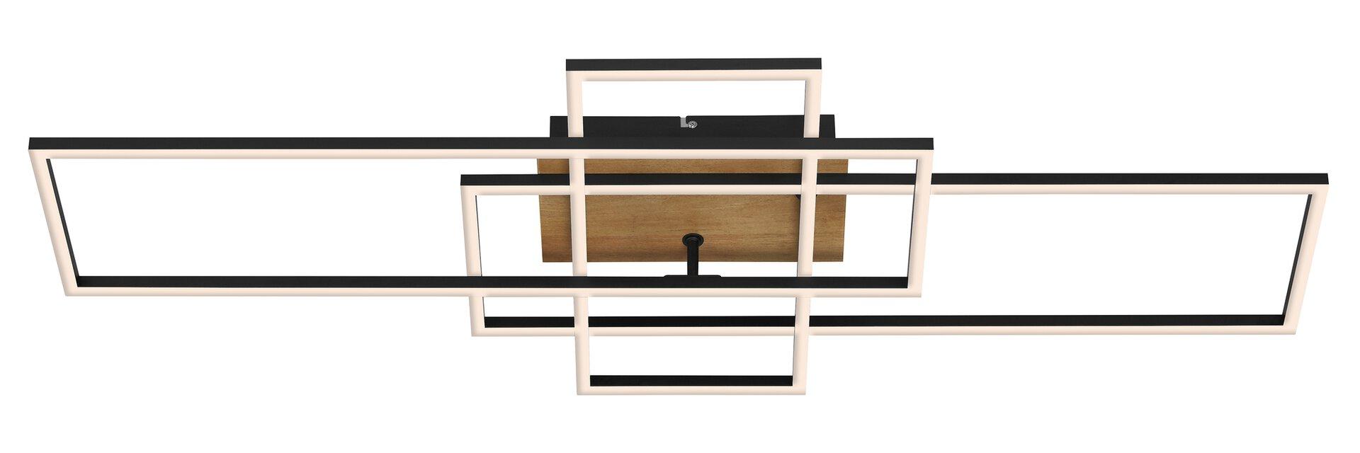 Deckenleuchte FRAME Briloner Metall braun 42 x 11 x 104 cm