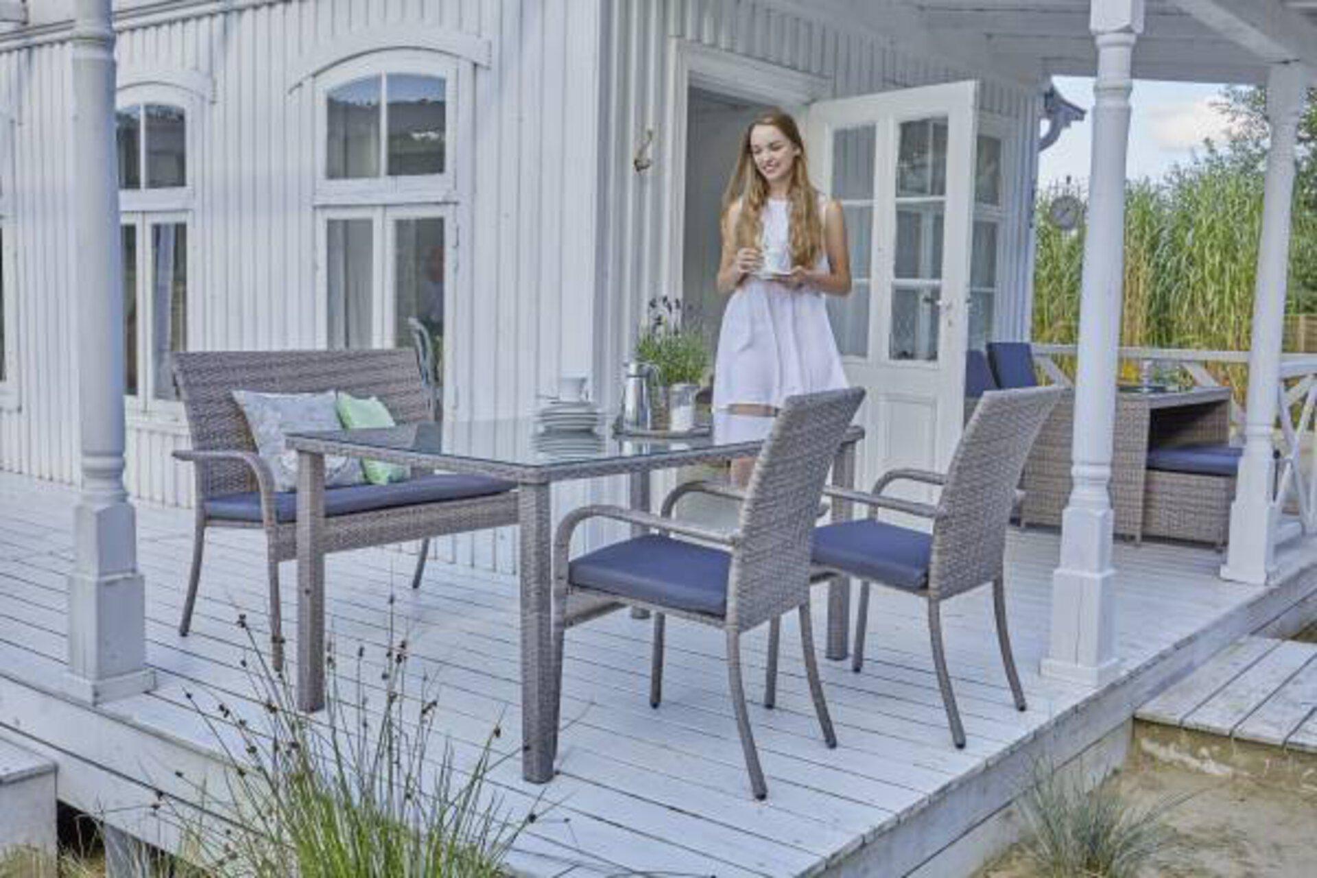 Gartentisch BNS Outdoor Metall 72 x 90 x 150 cm