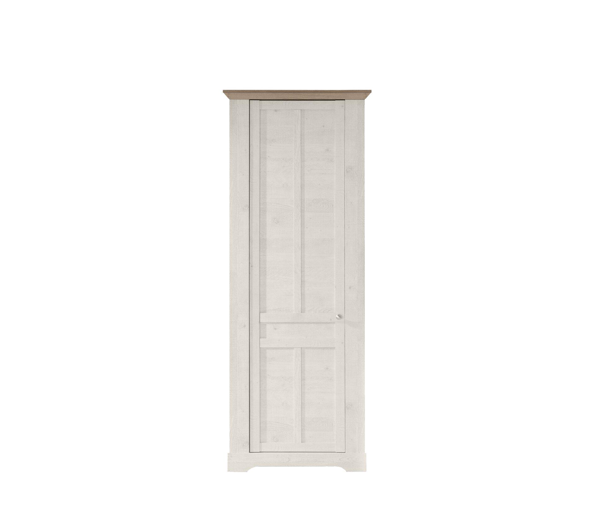 Garderobenschrank ALETTA SELF Holzwerkstoff weiß 44 x 210 x 76 cm