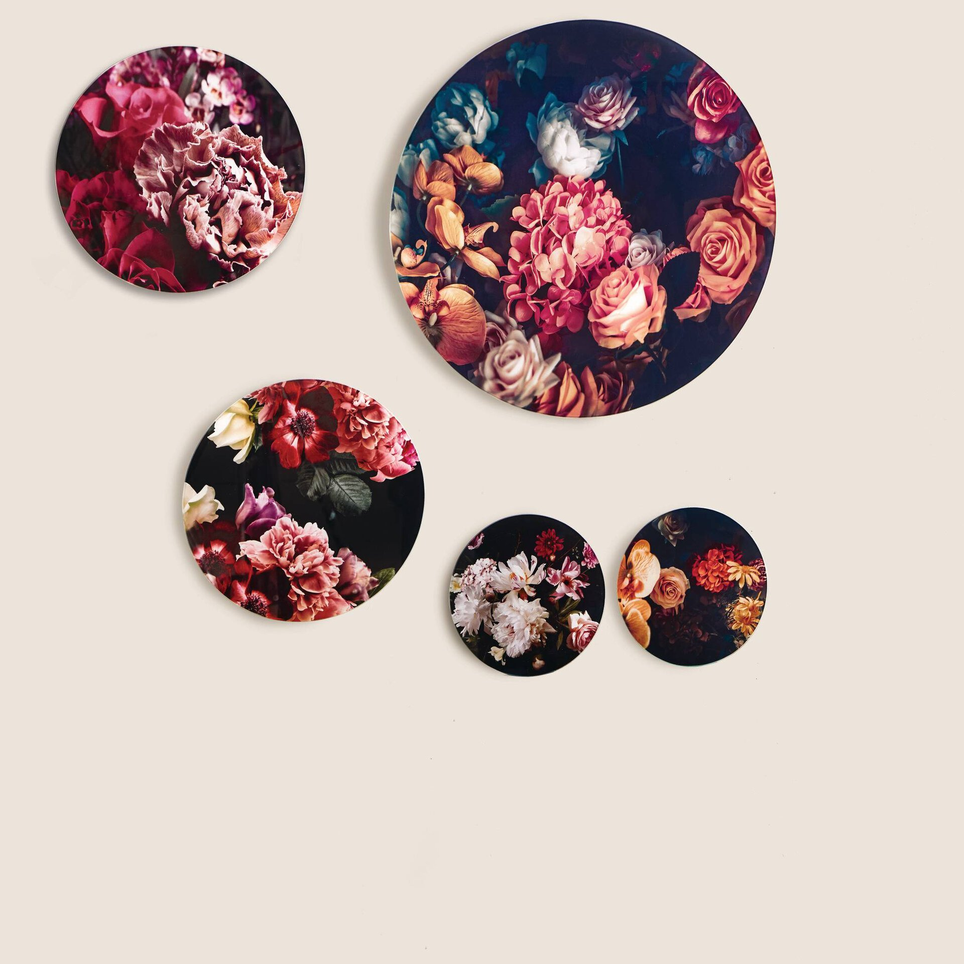 Bild Baroque Flowers VI Pro-Art Glas mehrfarbig 30 x 30 x 1 cm