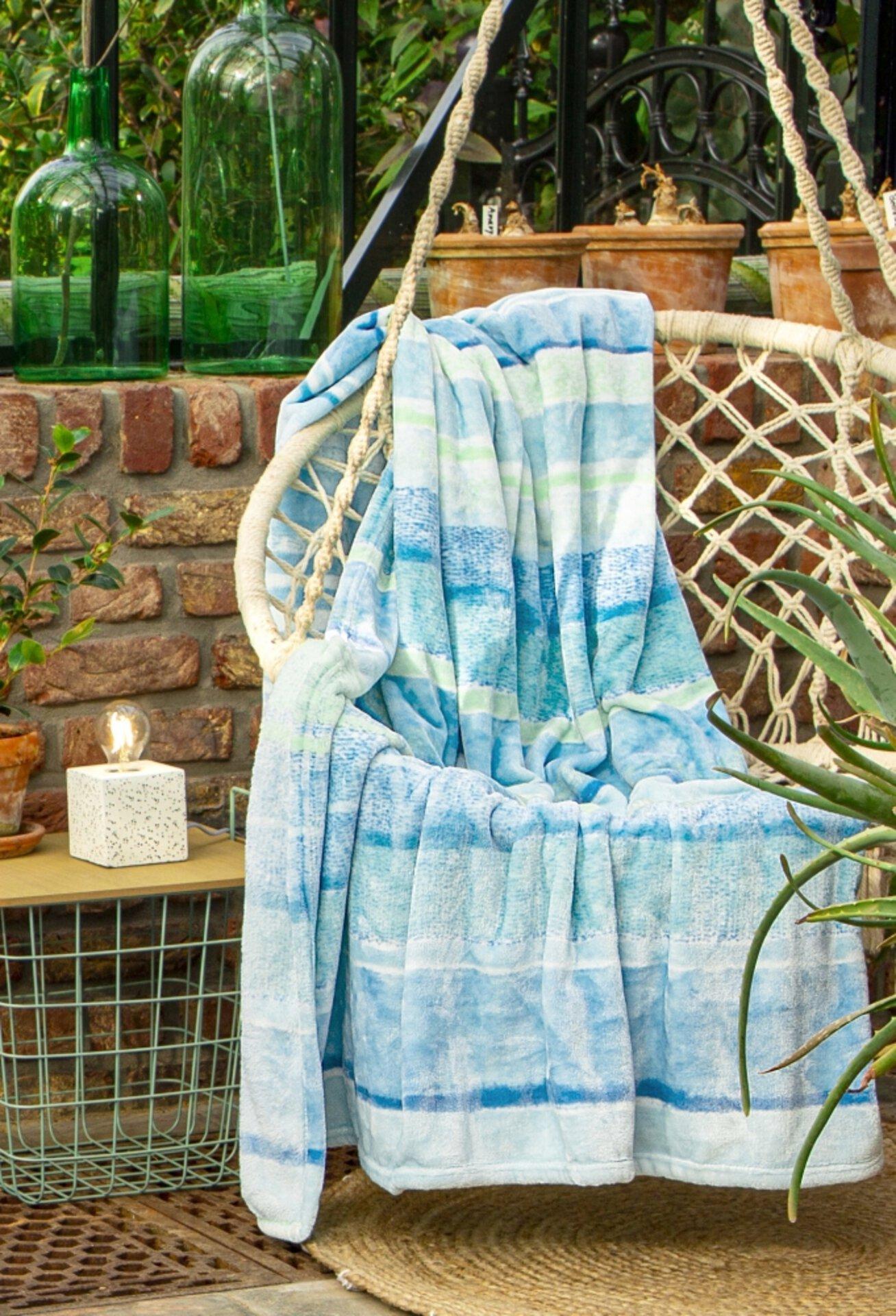 Wohndecke Lusaka Ibena Textil Blau 150 x 200 cm