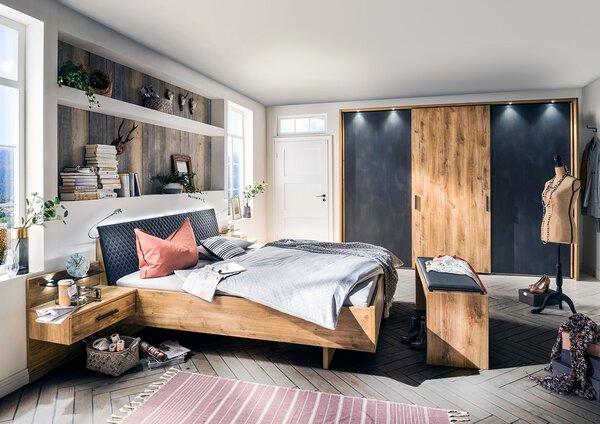 Schlafzimmer Vito Holzwerkstoff Schiefer- / Balkeneiche Nachb.