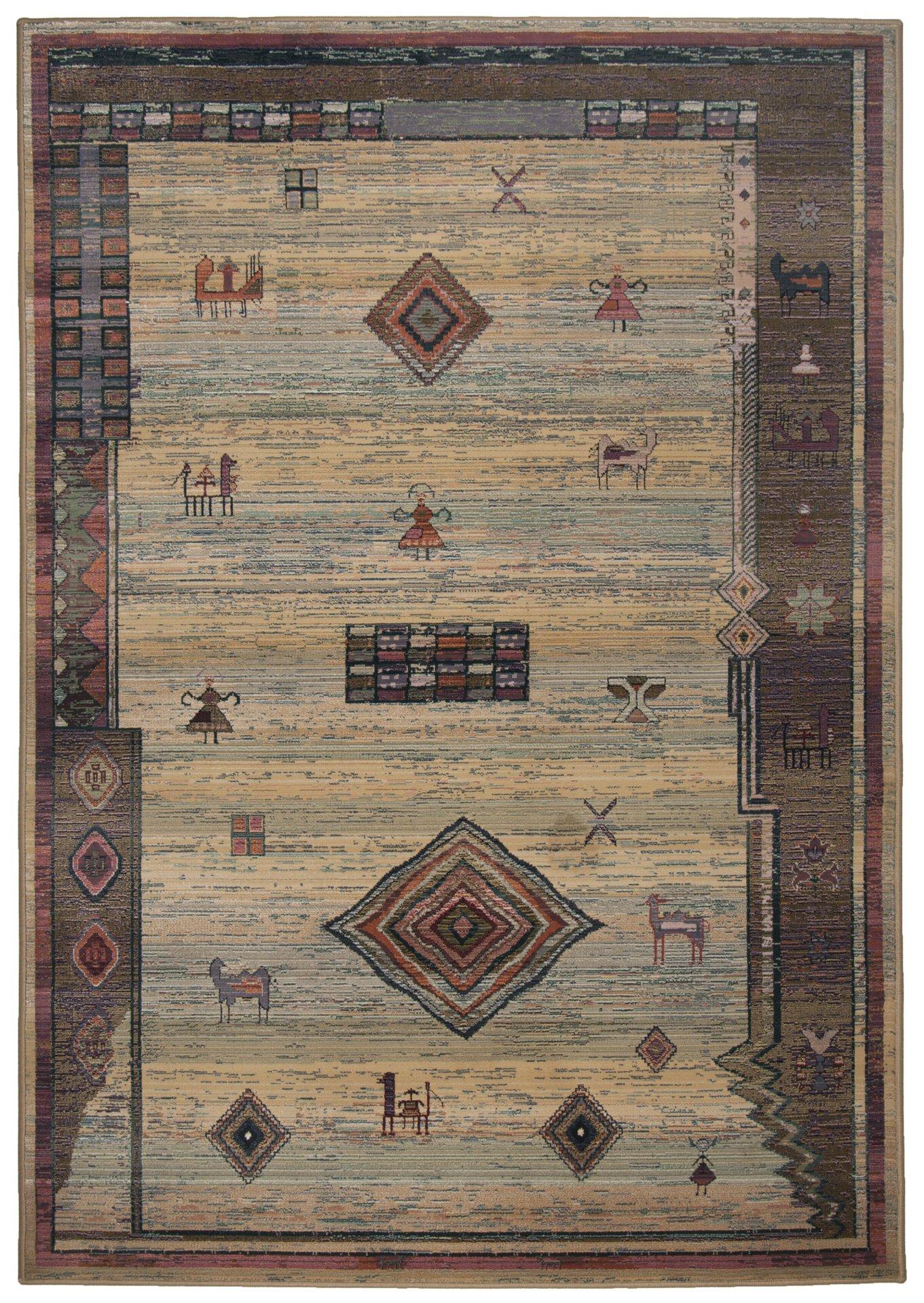Maschinenwebteppich Gabiro Theko Textil braun 160 x 235 cm