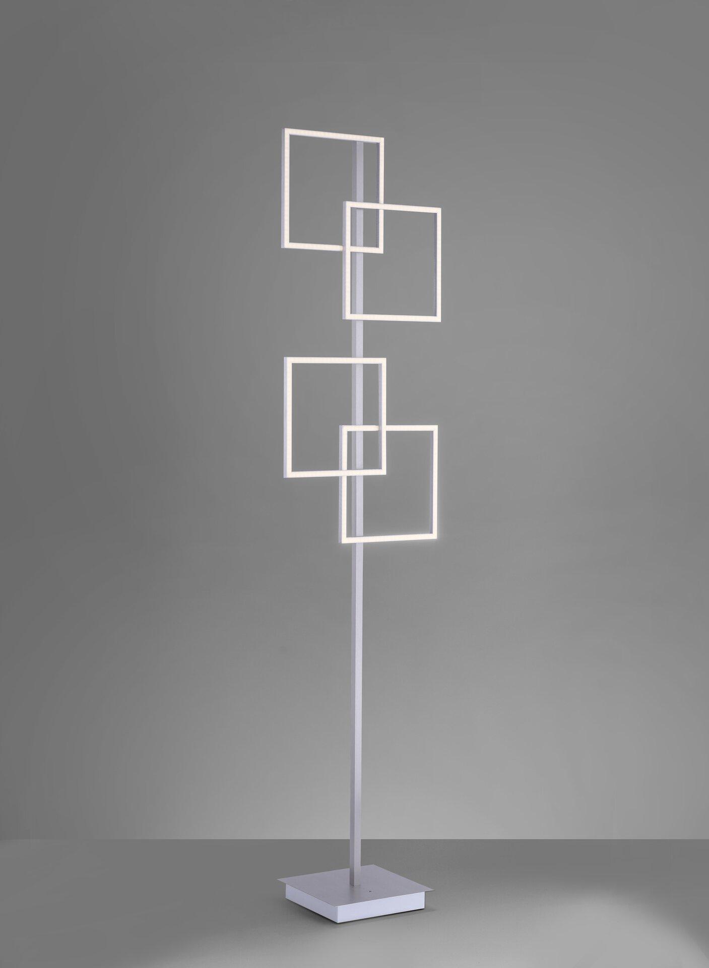 Stehleuchte INIGO Paul Neuhaus Metall silber 40 x 165 x 25 cm