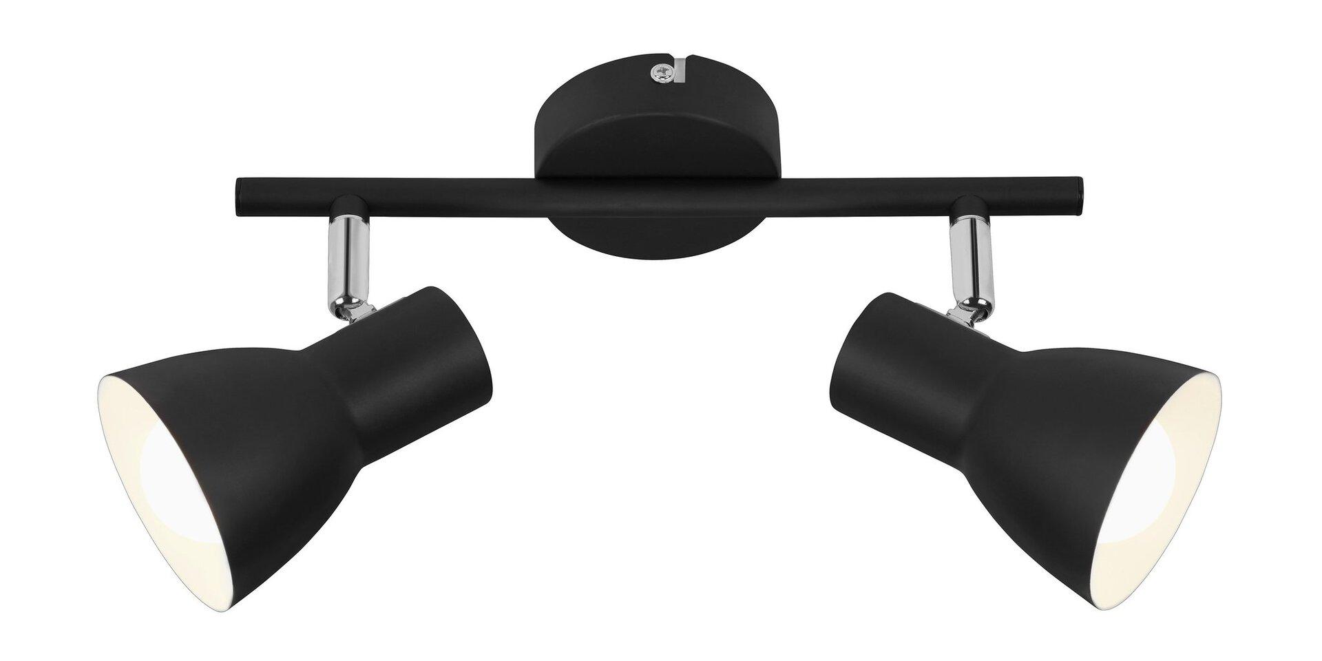 Strahler Retro Style Briloner Metall schwarz 8 x 15 x 28 cm