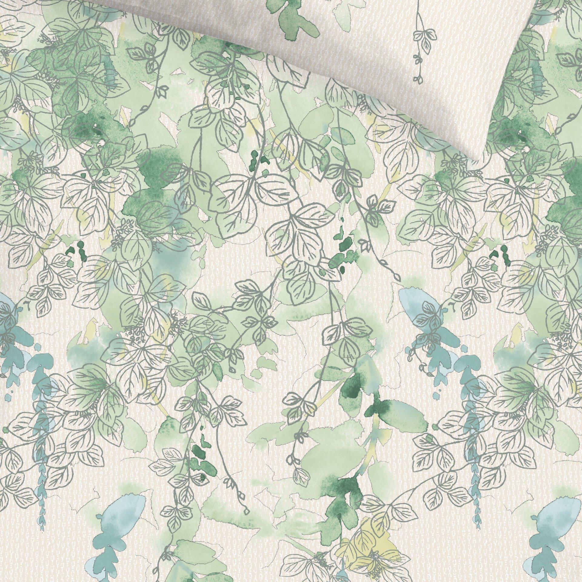 Bettwäsche Daily cotton Schlafgut Textil grün 135 x 200 cm