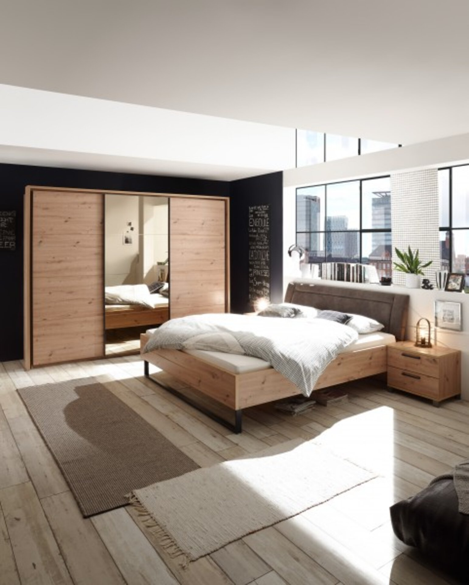 Schwebetürenschrank ORLANDO Dreamoro Holzwerkstoff 60 x 210 x 270 cm