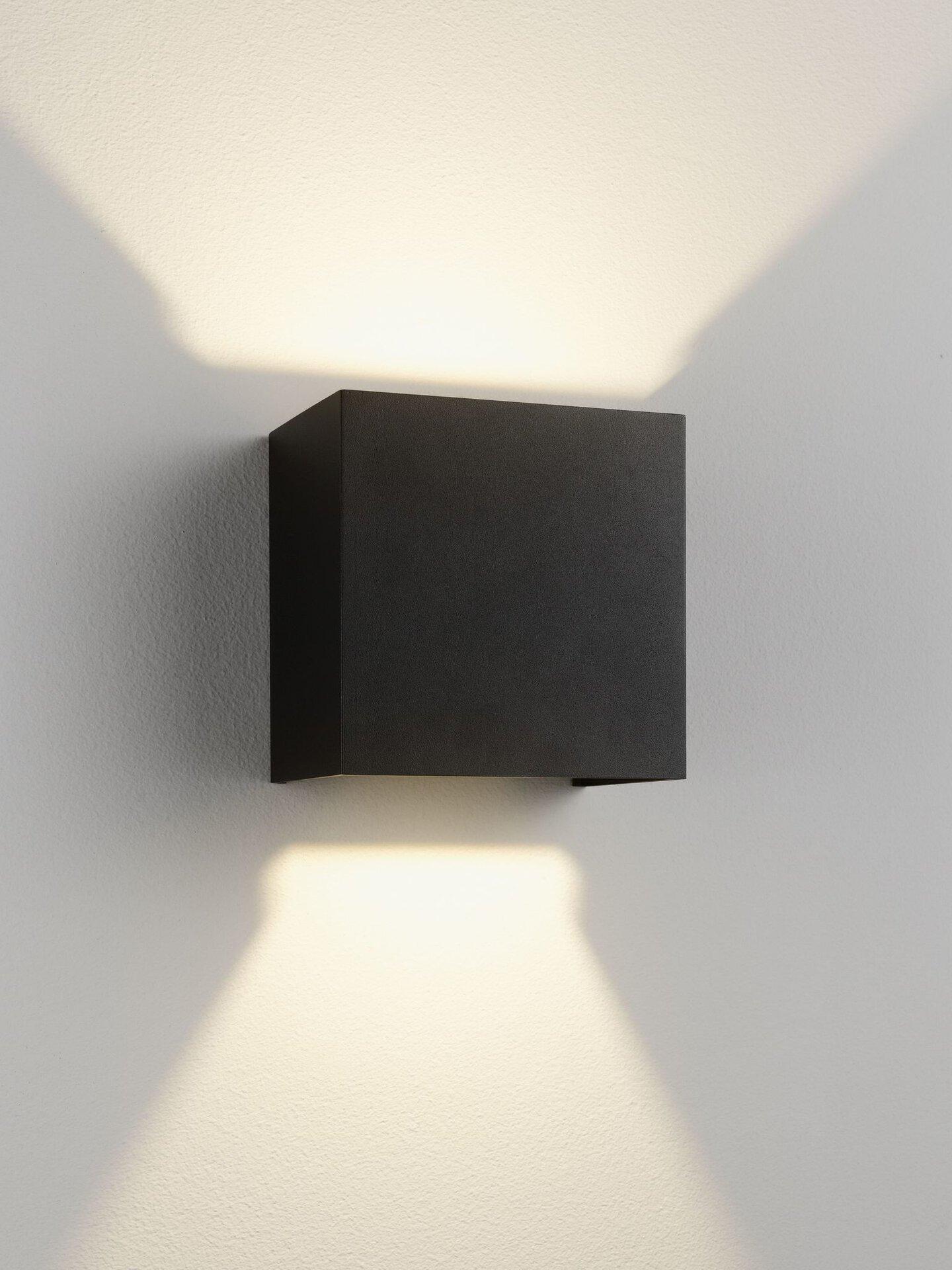 Wand-Aussenleuchte Cubi Casa Nova Metall grau 15 x 10 x 15 cm