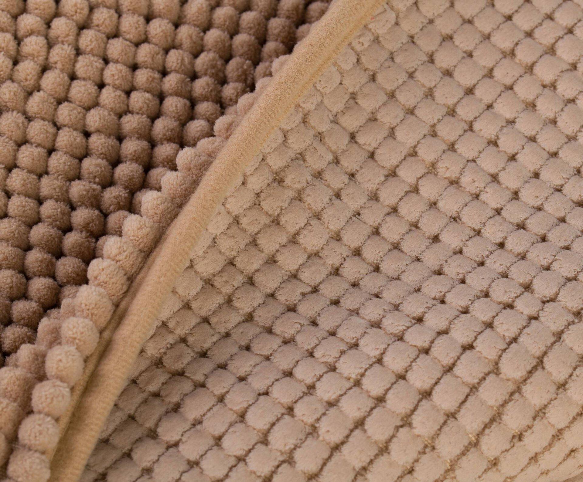 Badteppich Chenille Ambiente Trendlife Textil braun 60 x 100 cm