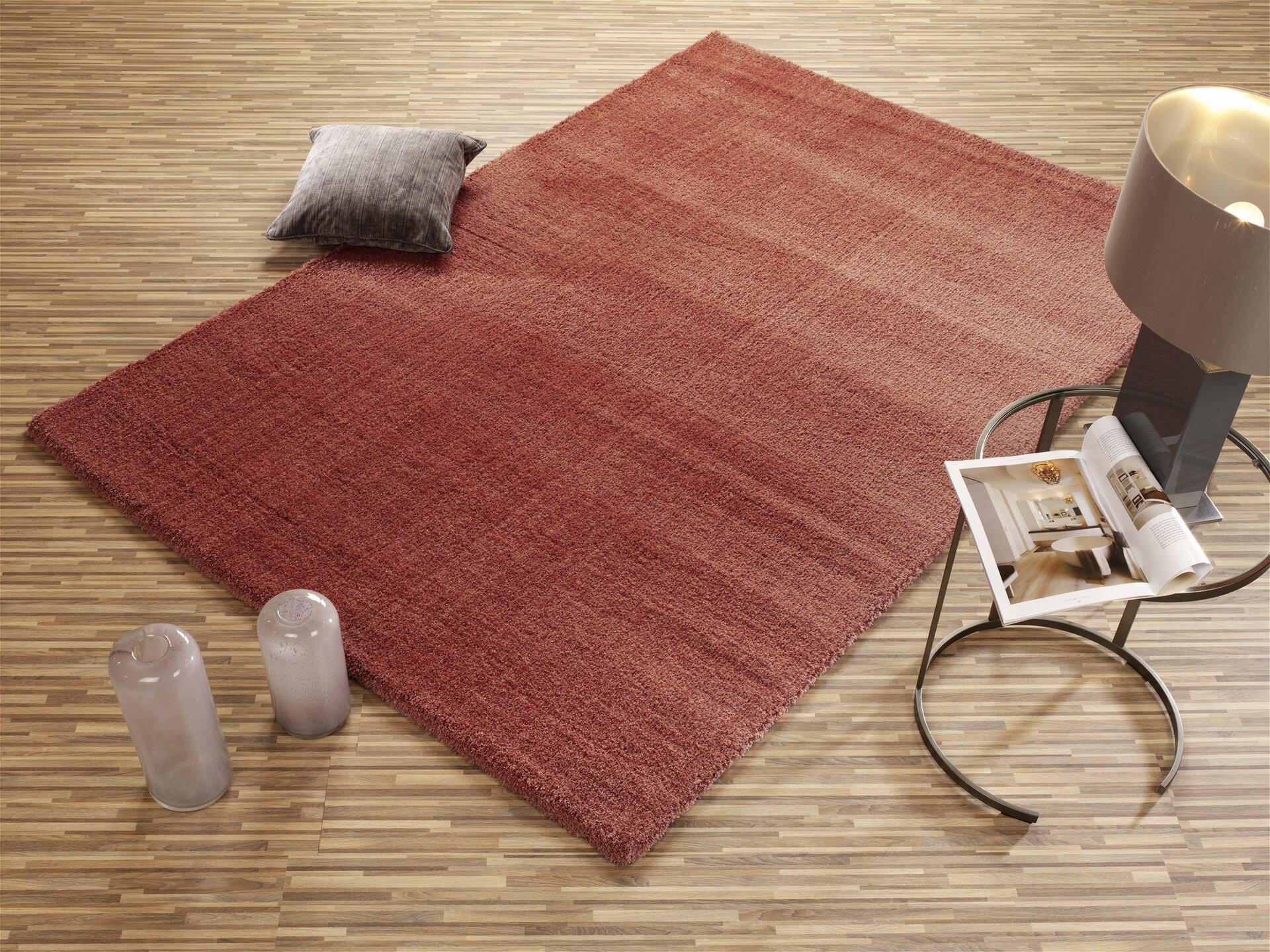 Maschinenwebteppich Soft Dream OCI Textil rot 1 x 2 cm