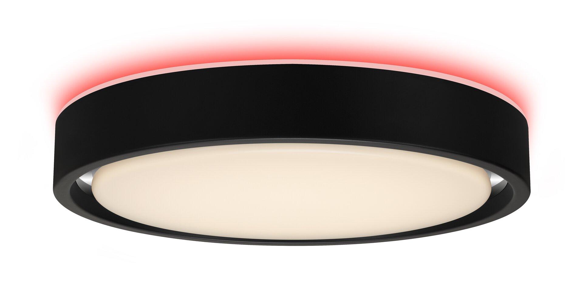 Deckenleuchte TALENA Briloner Metall schwarz 36 x 8 x 36 cm