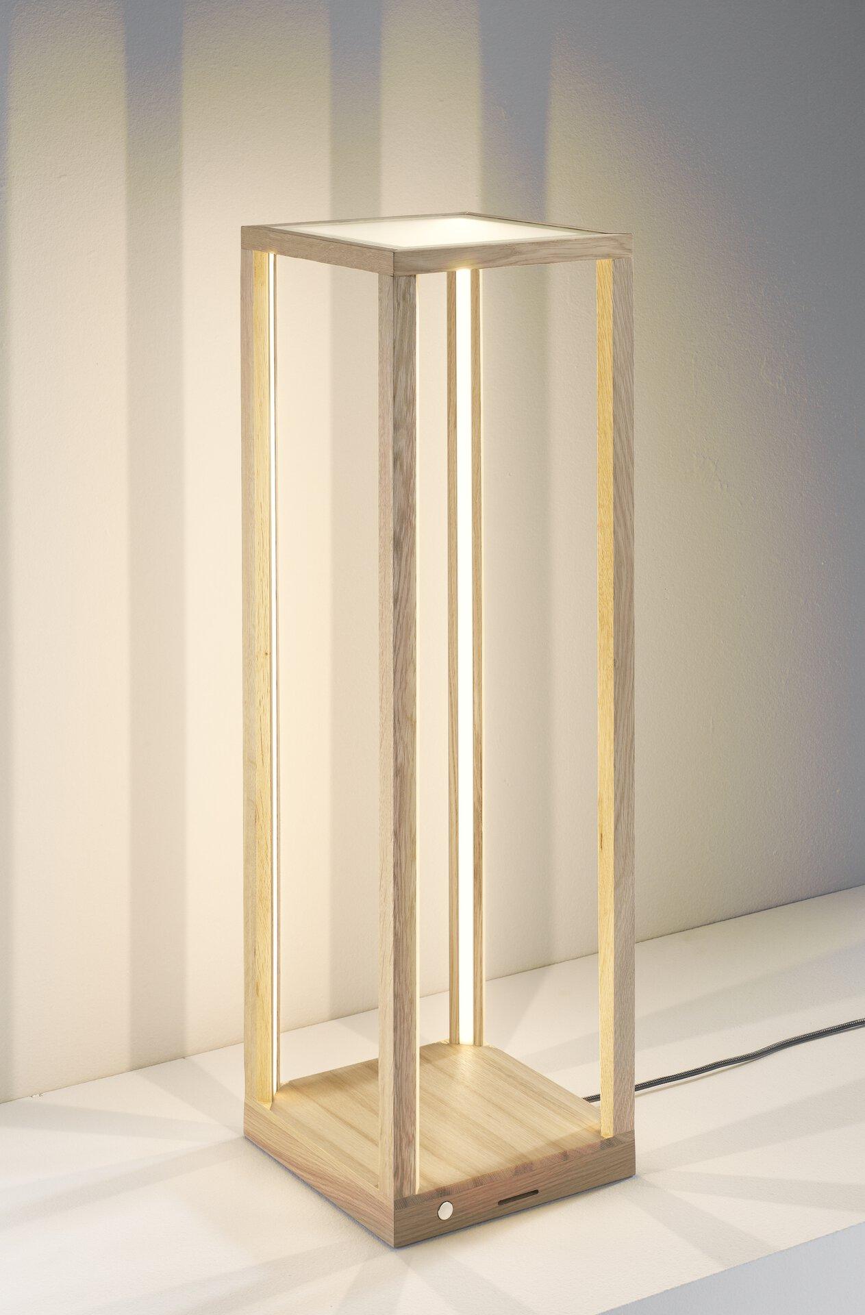 Tischleuchte TAVOLI GLAS MONDO Holz braun 25 x 82 x 25 cm