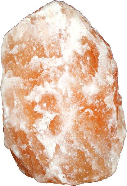 Salzkristall-Leuchte Globo Stein orange