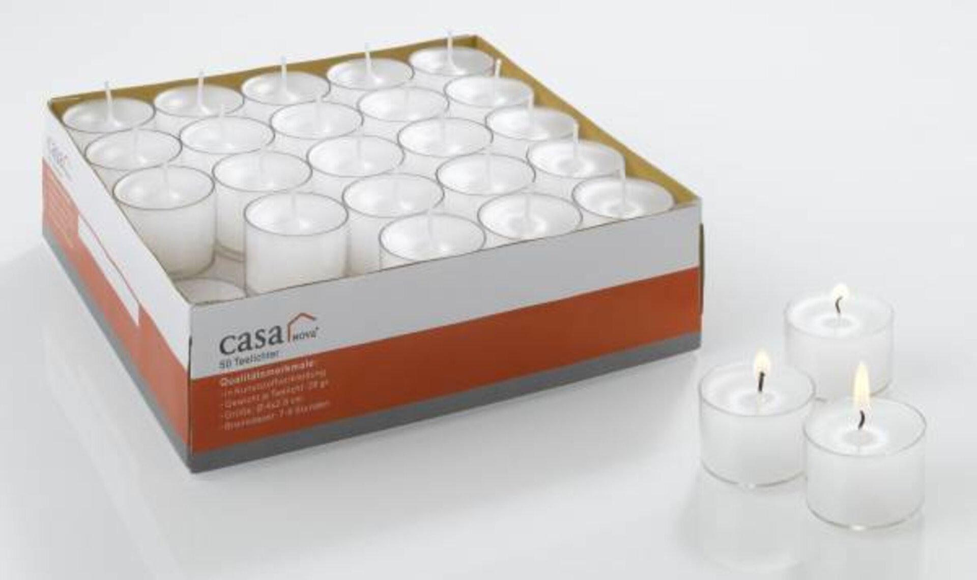 Kerze 151000 Casa Nova Cixi Casa Nova Wachs weiß